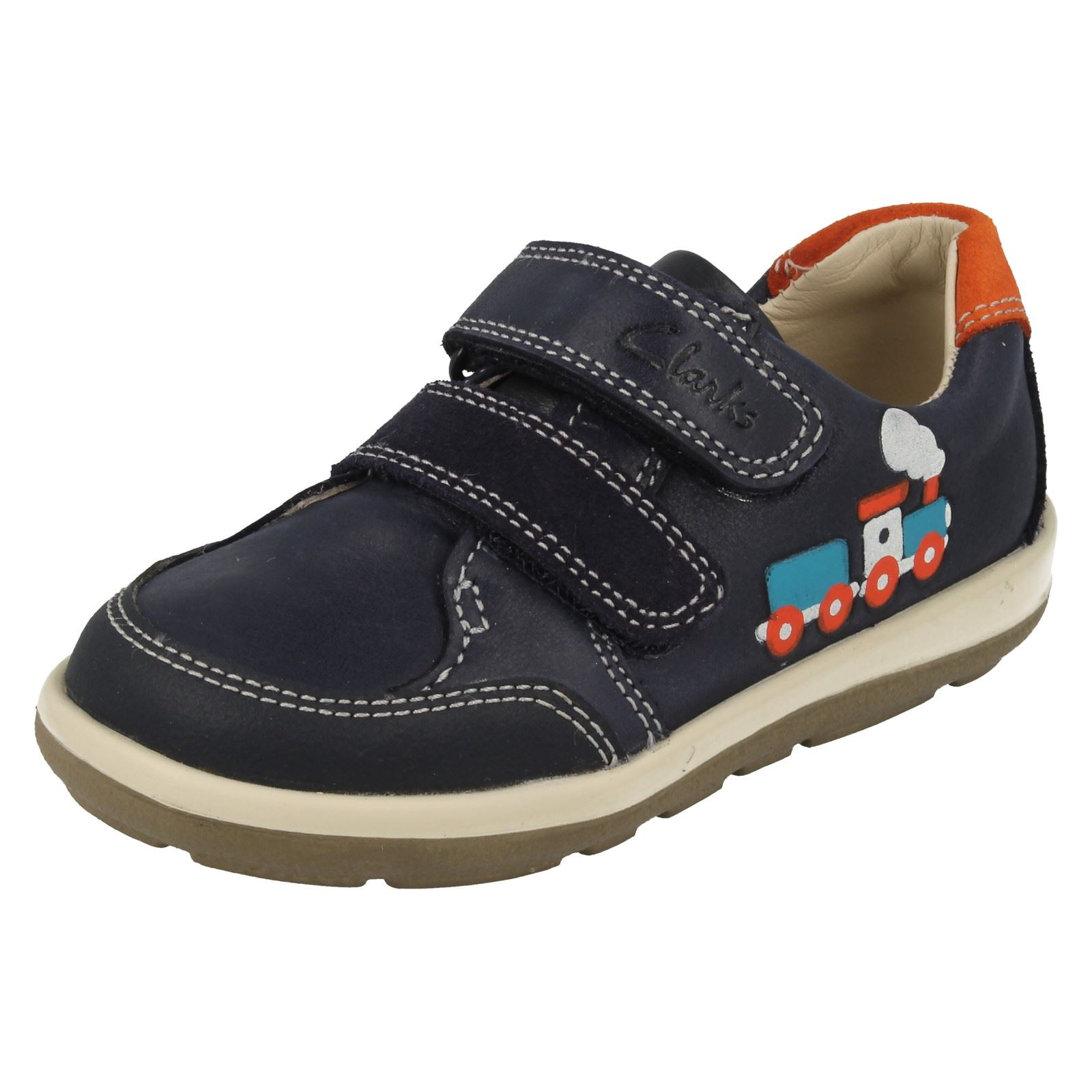 First azul Tom Infant zapatos Navy doble Clarks correa suavemente de Boys ZRwvF5