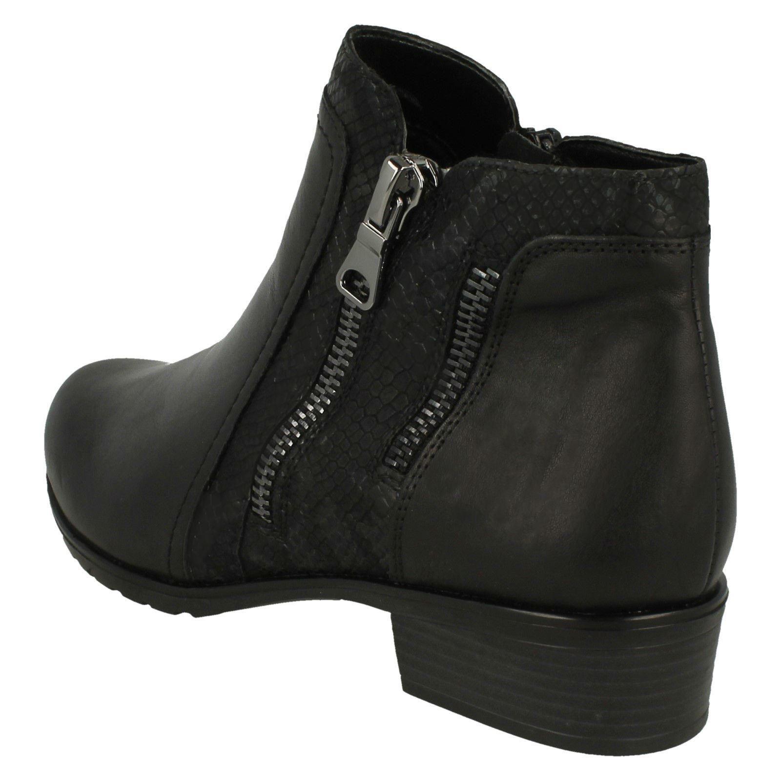 Remonte Boots D6870 Black ankle Zip Womens HfqdwAA