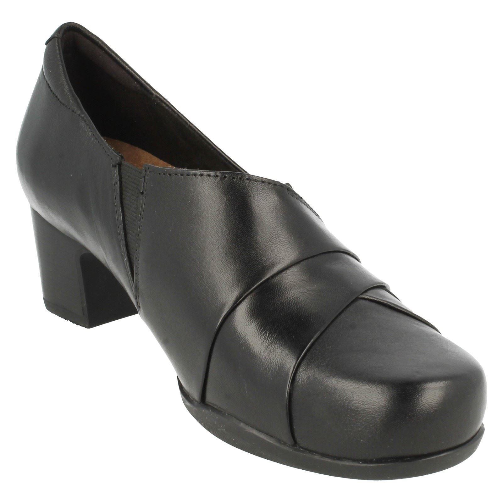 cuero Adele para Zapatos de Clarks Rosalyn negro damas qx6R8wnP