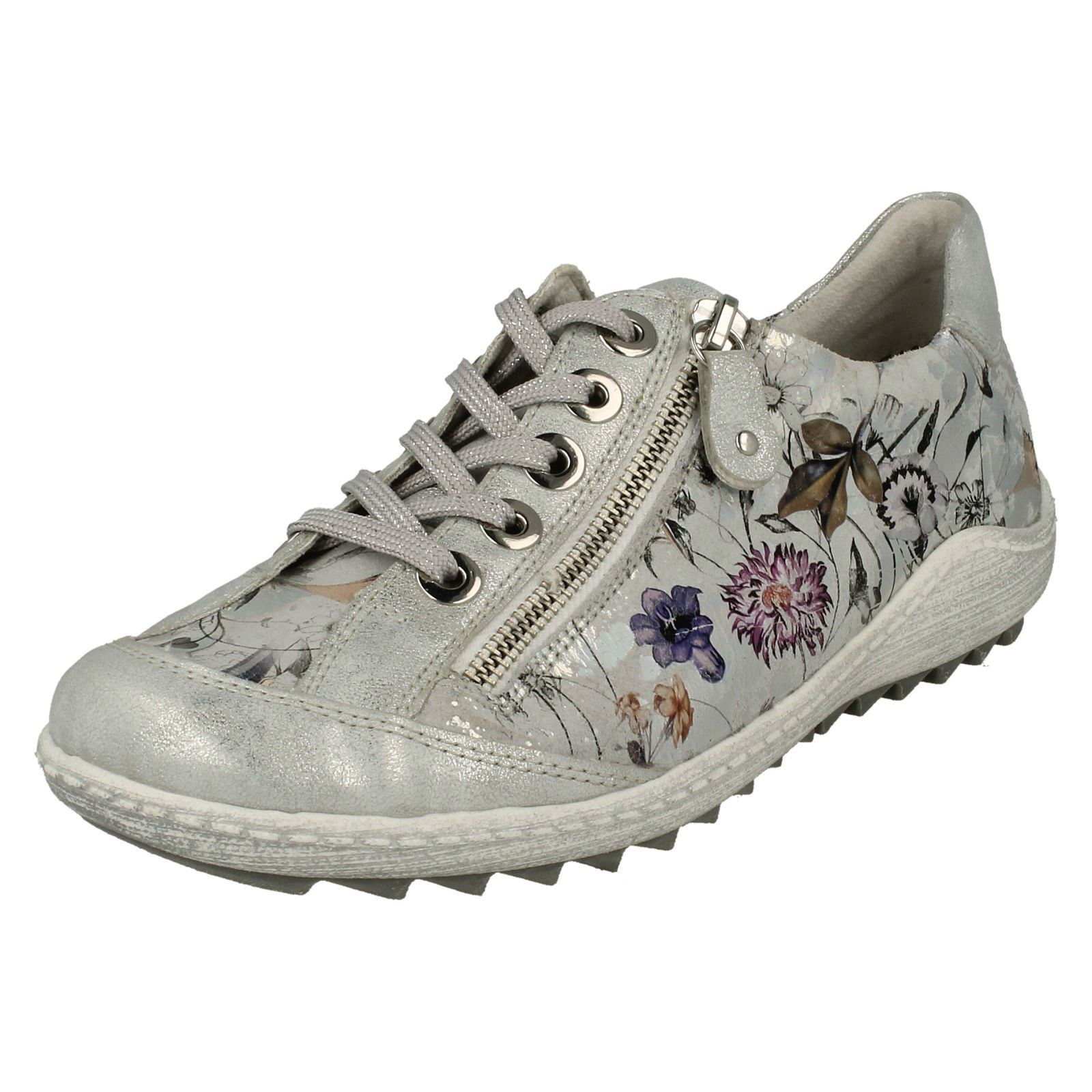 Metallic Remonte R1402 Womens Style silver Casual Shoes Trainer FYdnZZrq