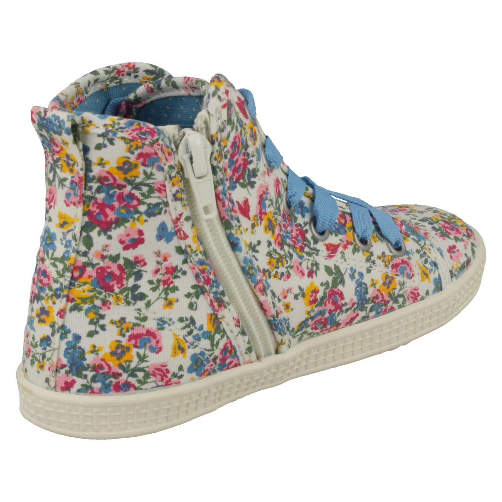 Girls Startrite Floral Canvas Boots Ditsy