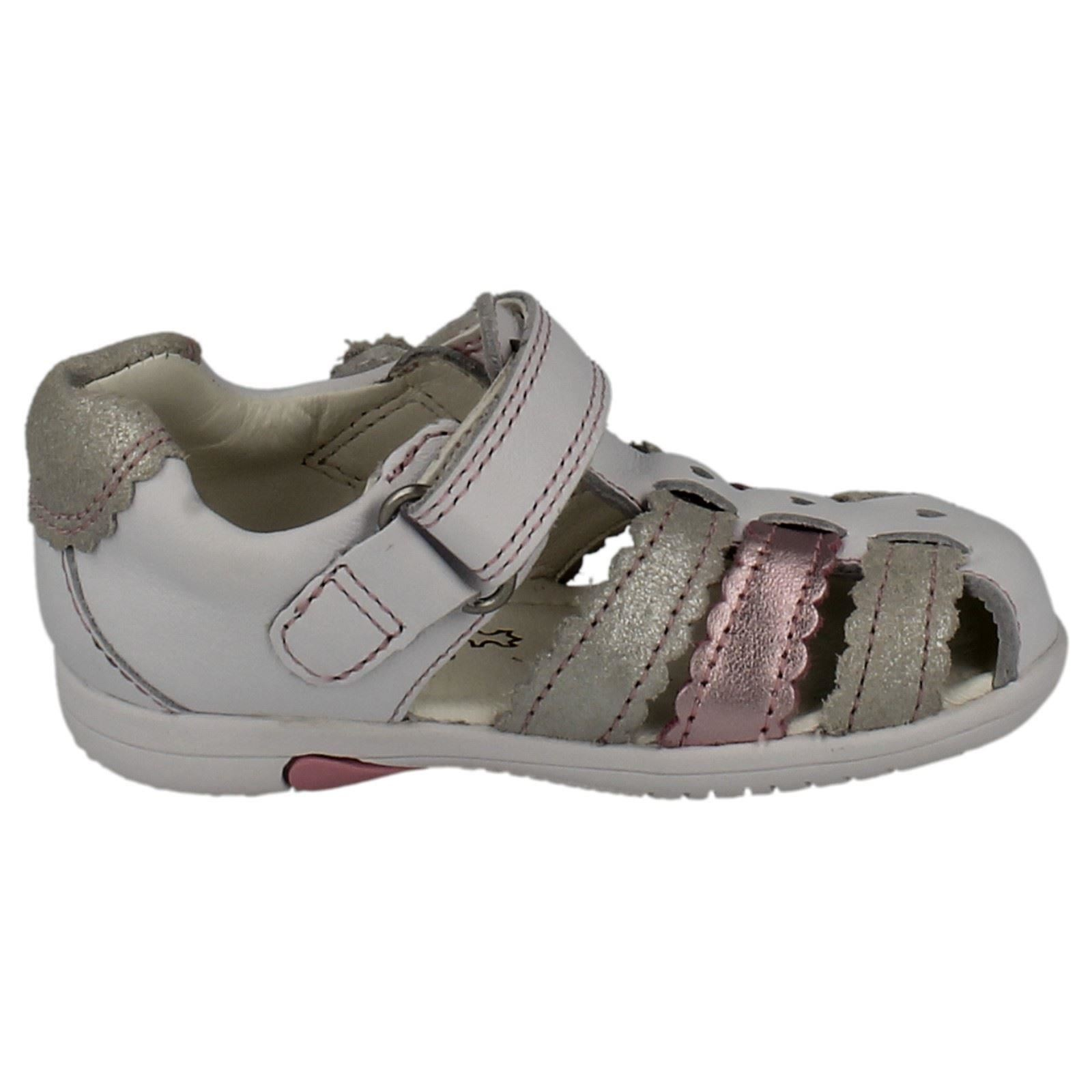 f02714e5c74 Girls Clarks First Sandals Closed Toe Softly Palm FST