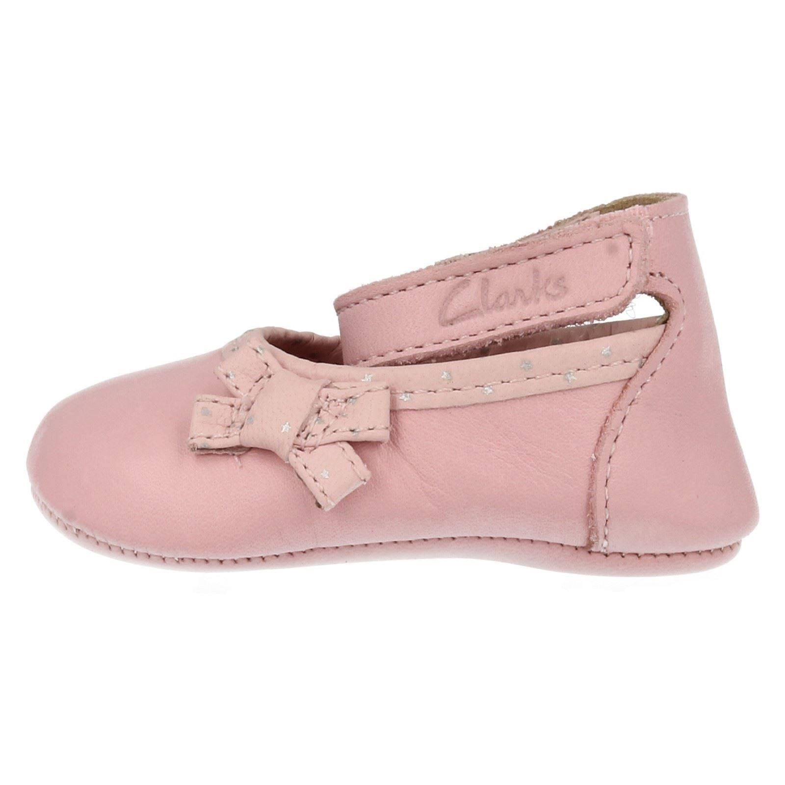 Clarks Girls Soft Leather Pram Shoes With Strap - Baby Harper  0b94a38af474