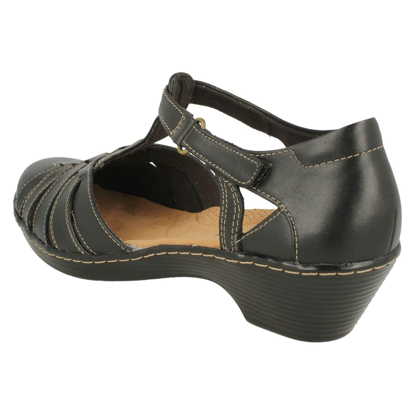 'Ladies Clarks' Scoop Wedge T-Bar shoes - Wendy Wendy Wendy Alto 918939