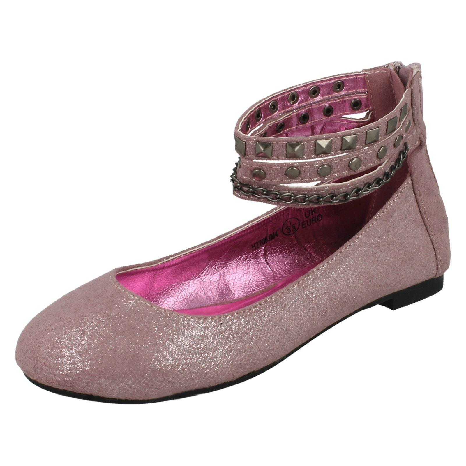 Détails sur Filles Cutie Plat Bride Cheville Chaussures Ballerine