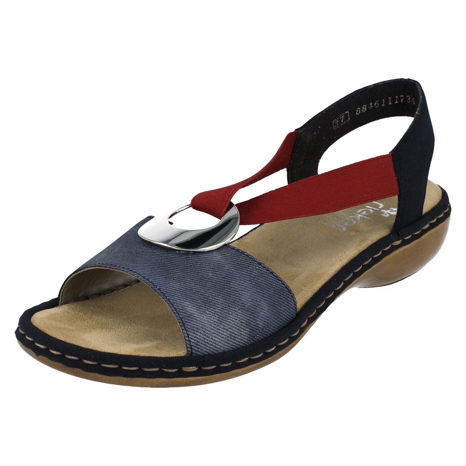 Ladies blu sandali Rieker blu 659q9 combinazione ArvOxAT