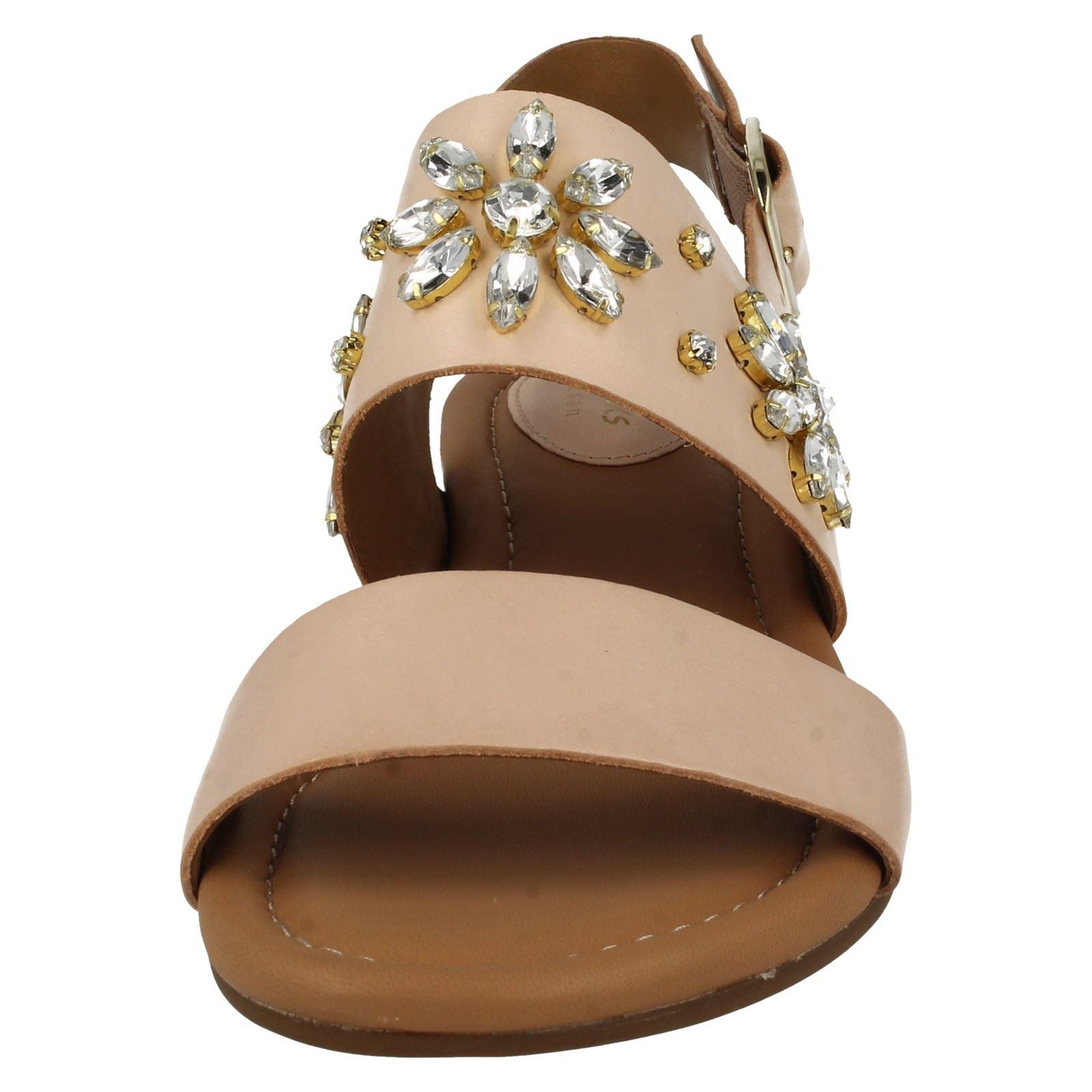 Clarks Viveca Nude beige Melrose mujer Bead para Sandalias Design H1dgwqx1p