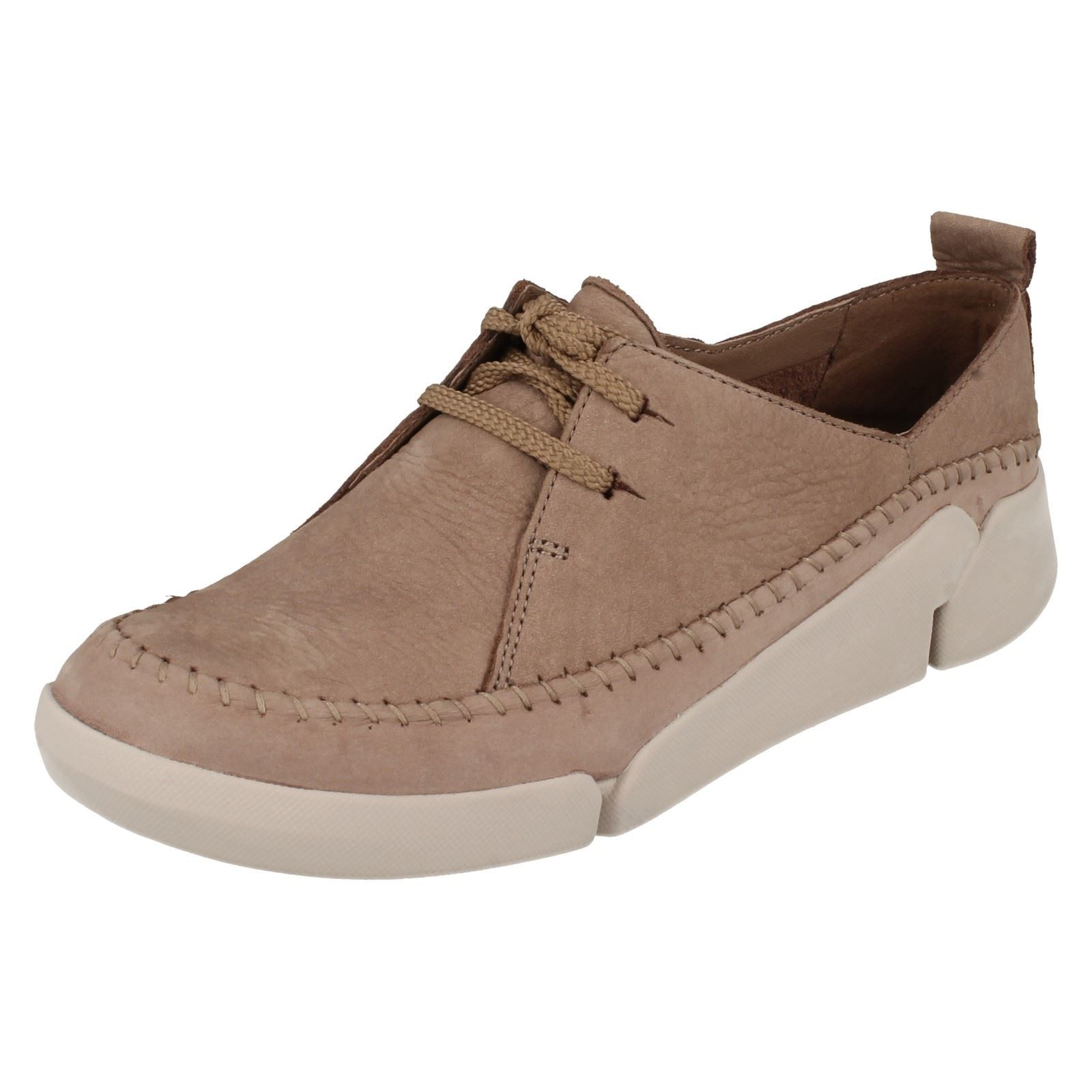 Details about Ladies Clarks Casual Lace Up Pumps 'Tri Angel'