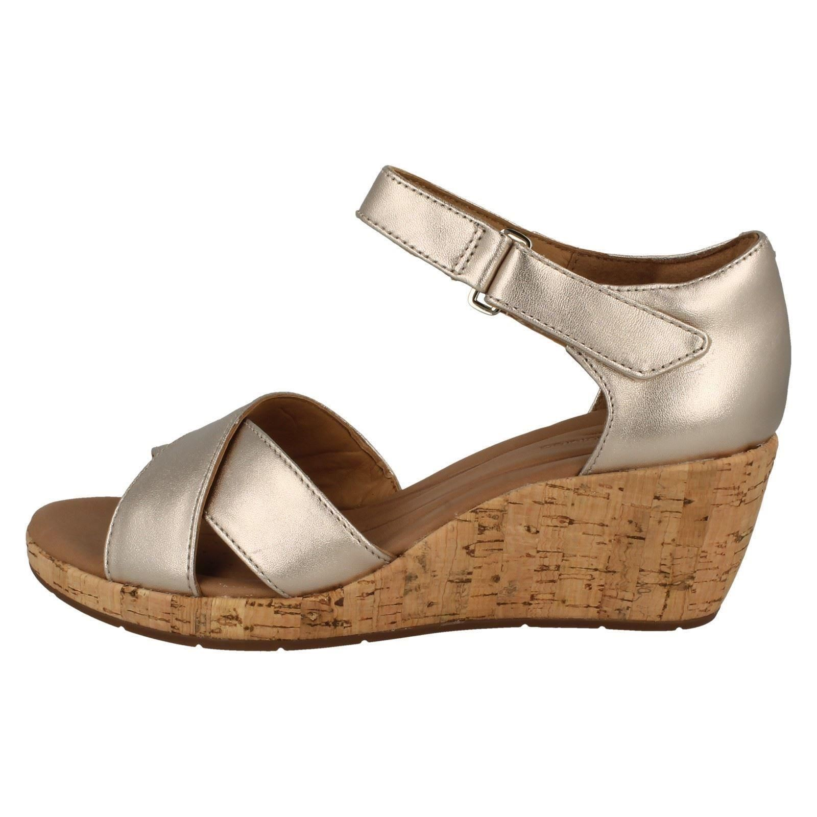 b21aa8e911f Ladies-Clarks-Wedge-Heeled-Sandals-Un-Plaza-Cross thumbnail