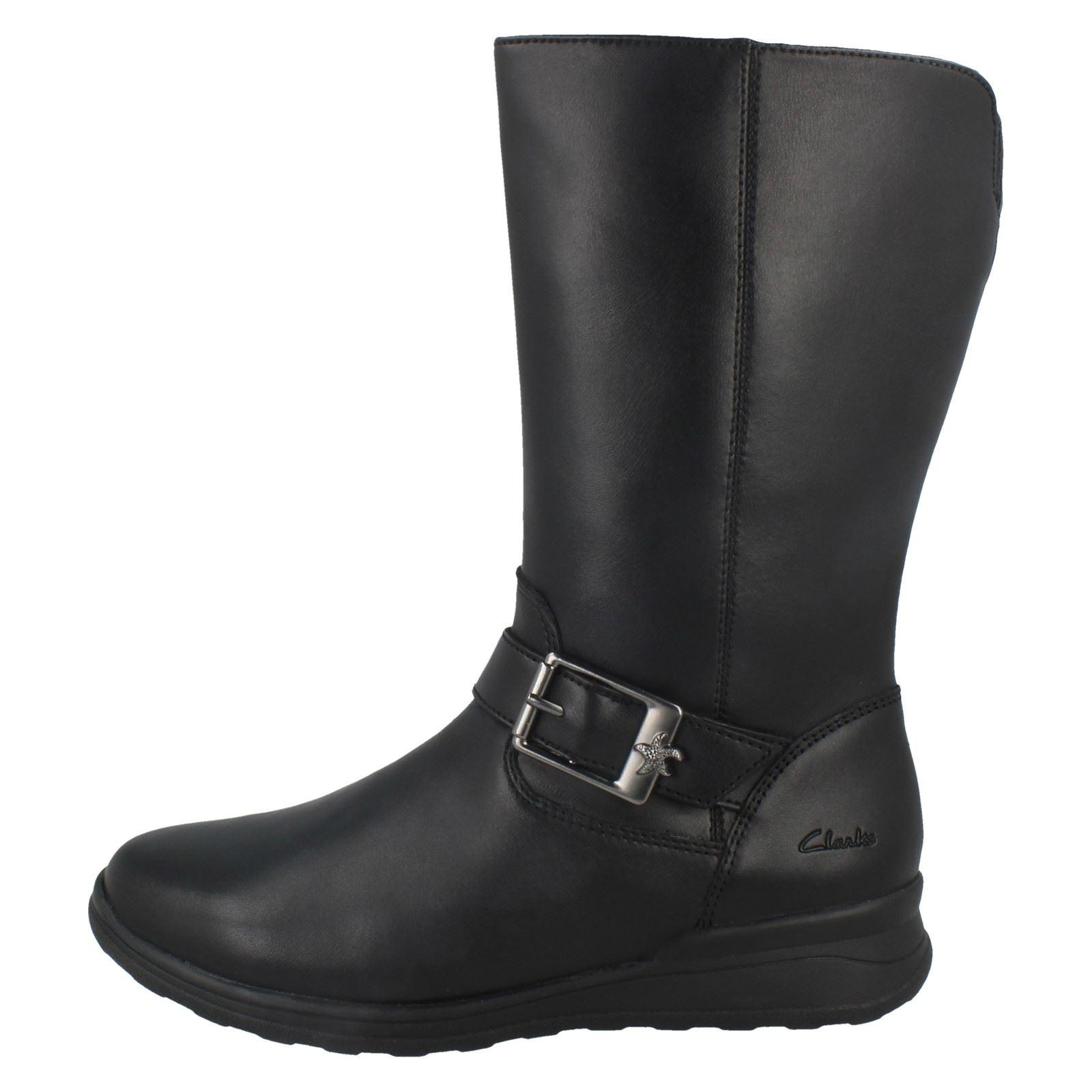 Star' Niñas Calf Boots 'mariel Mid Negro Clarks wqqUErWX