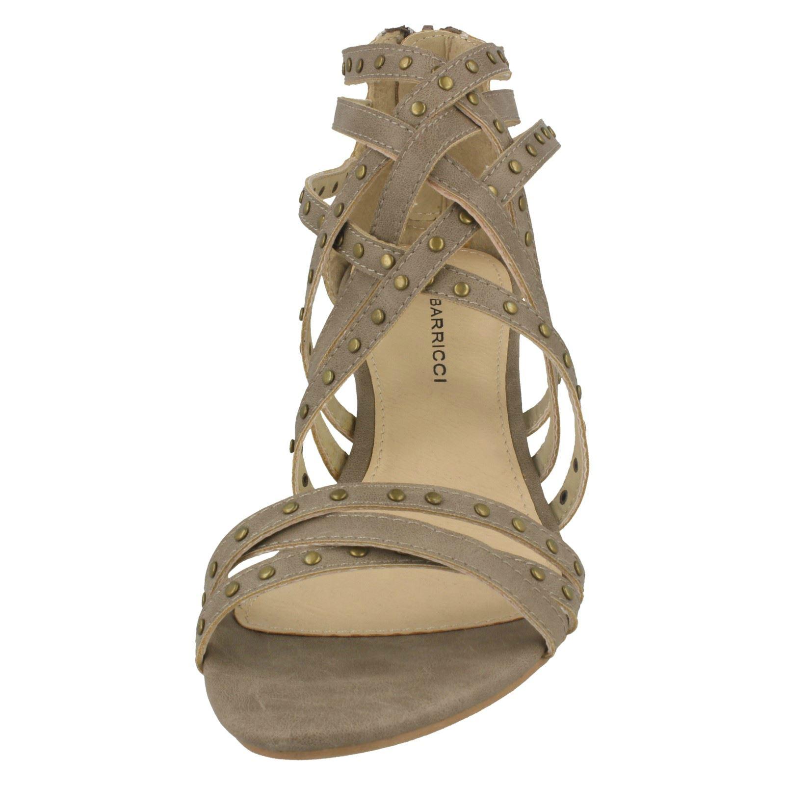 Damen Pumps Ladies Barricci Heeled Sandals Damenschuhe High