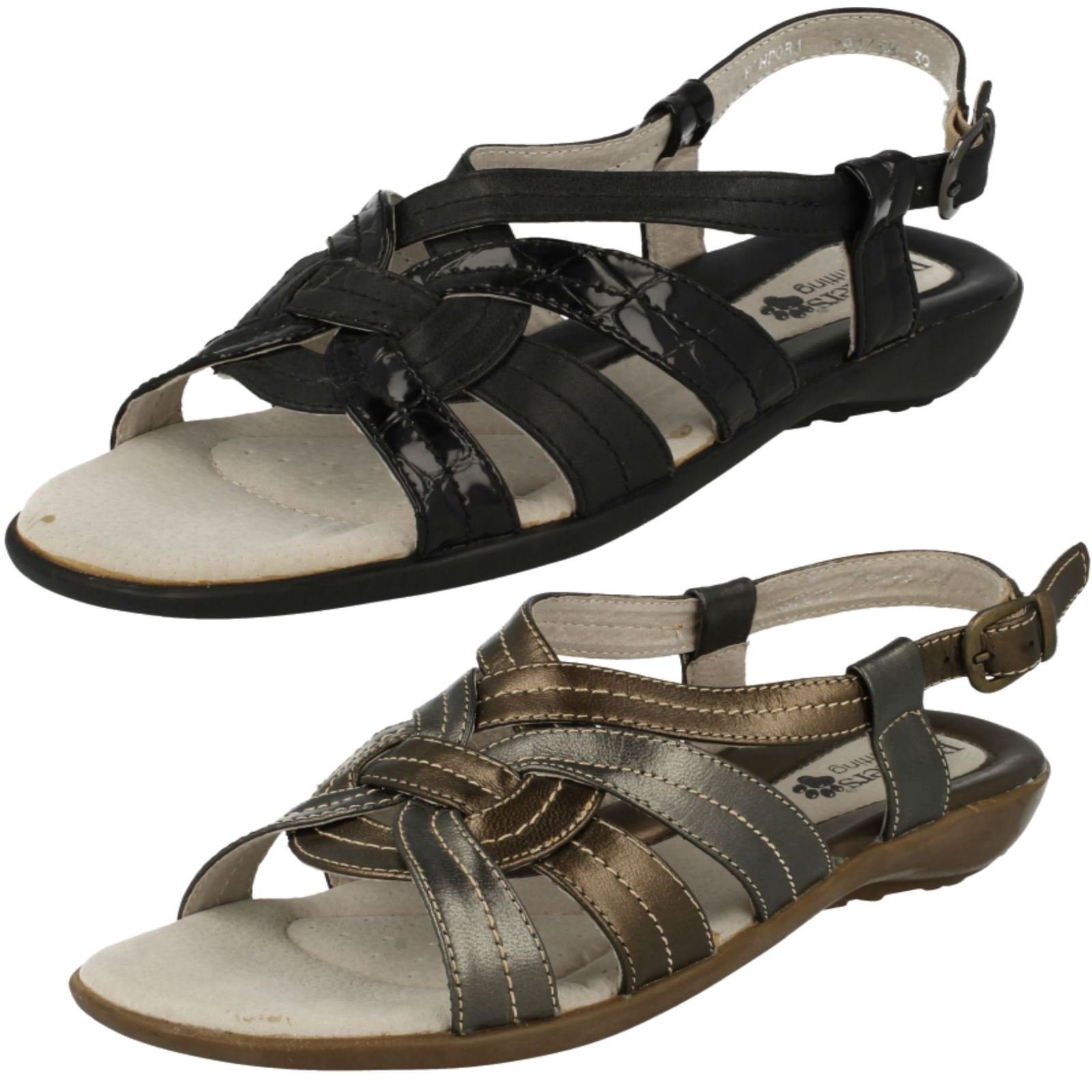 21a2a340023e2 Details about Padders Ladies Wide Fitting Sandals Pandora