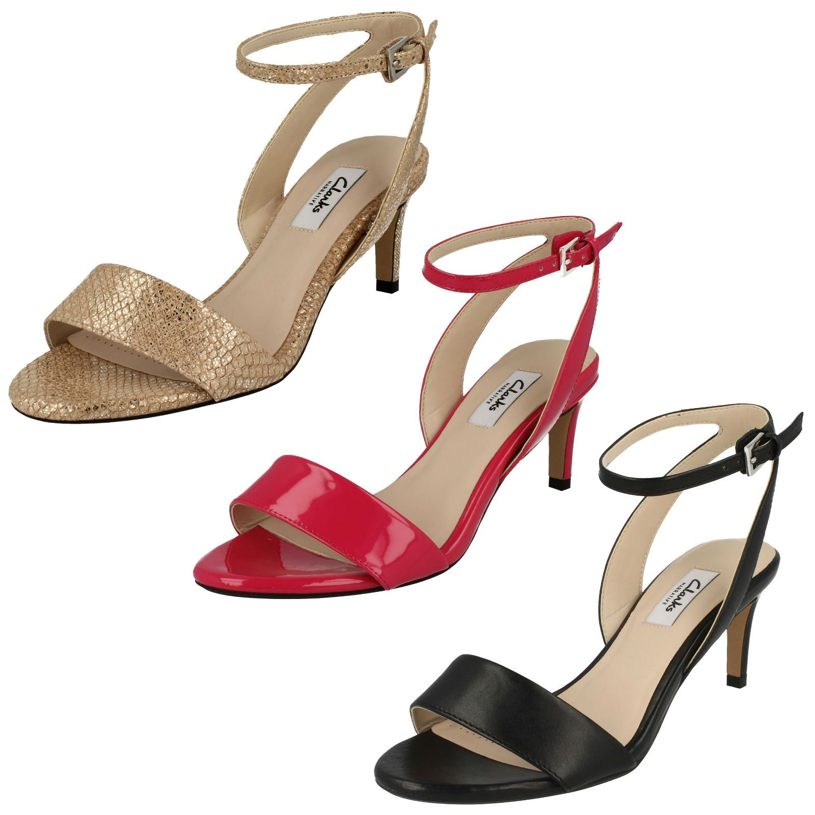 Details about Ladies Clarks Classy Ankle Strap Sandals Amali Jewel