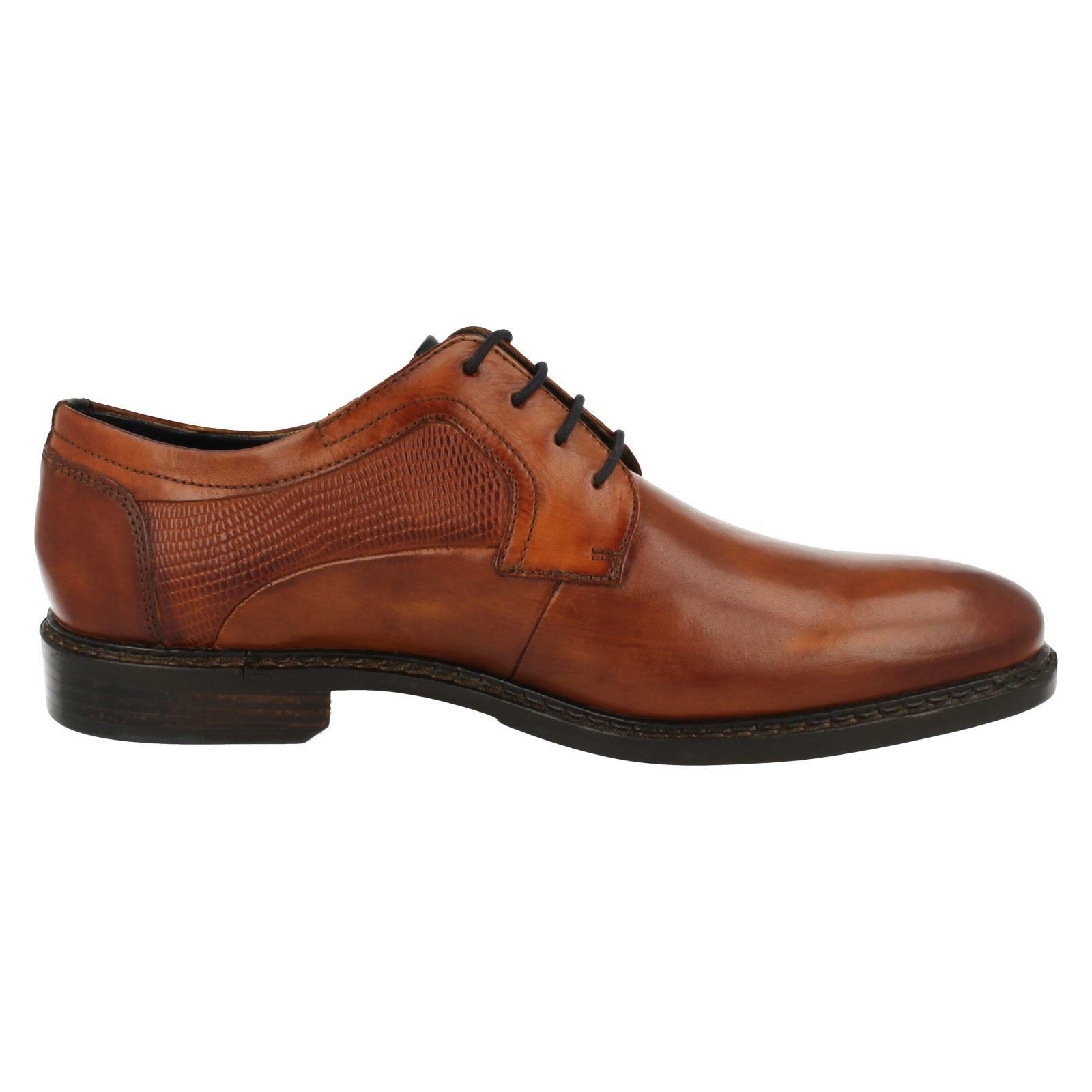 Men's Shoes Bugatti Bene U9008 Mens Cognac Leather Shoes 32a