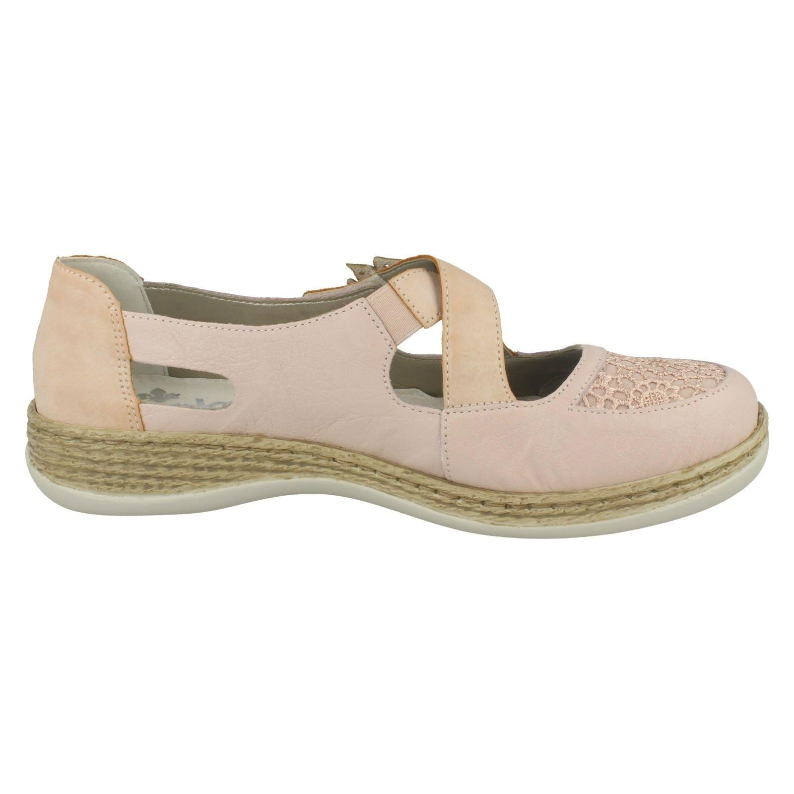 Ladies Rieker Cross Strap Casual Casual Casual shoes 464H0 255ef0