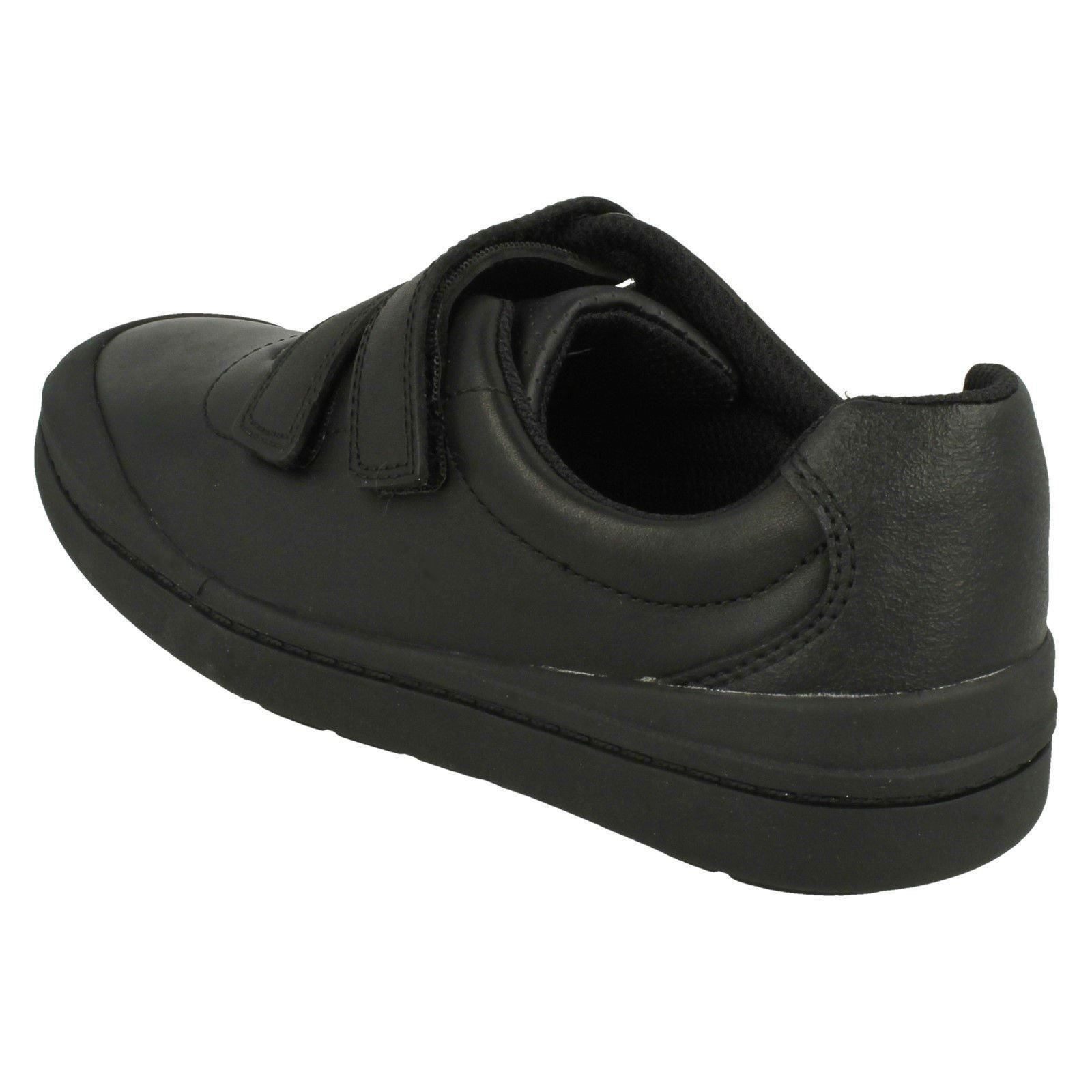 f7017807a Boys Clarks Smart Hook And Loop School Shoes Rock Play