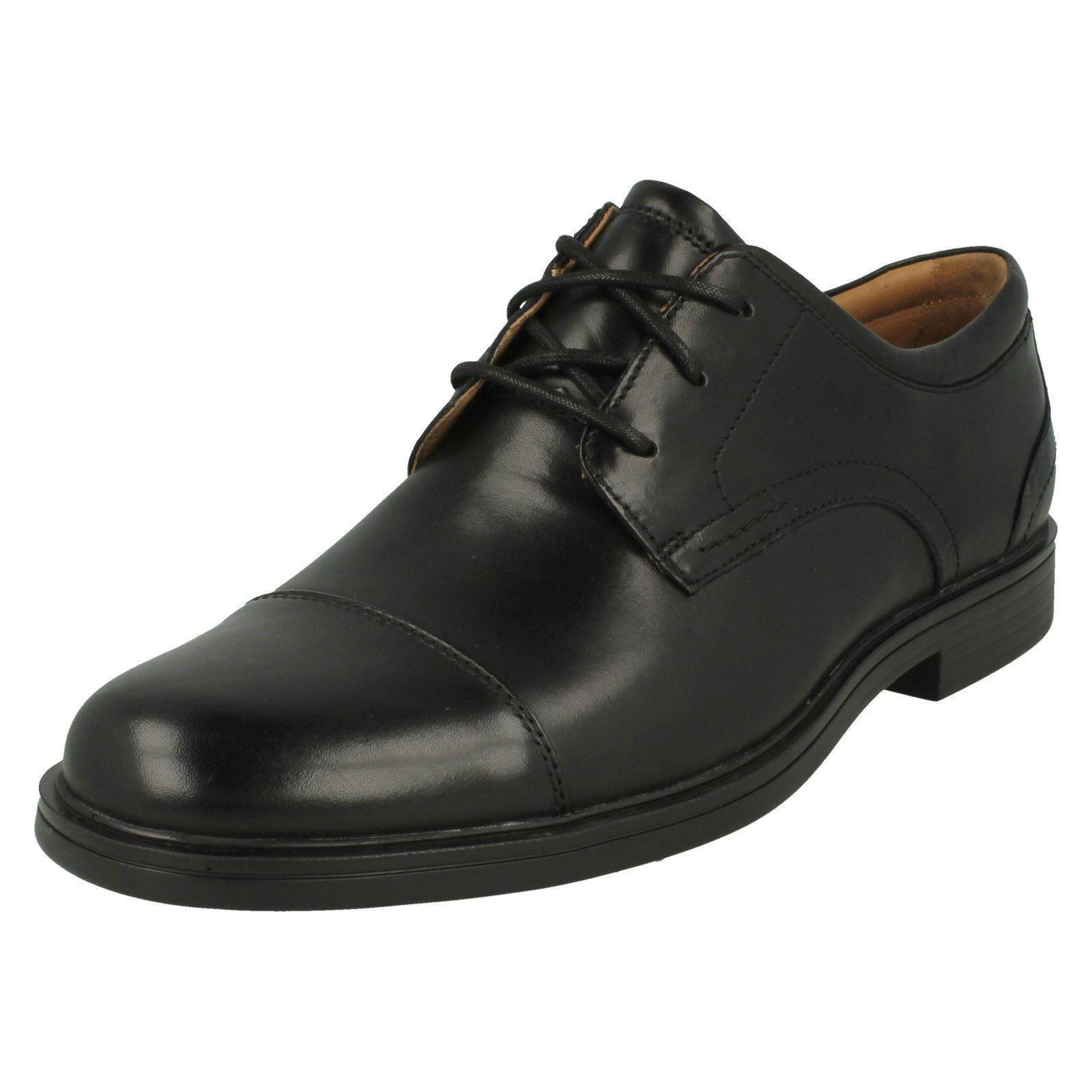 Uomo Clark Formal Leder Rounded Toe Lace Up Leder Formal Schuhes Un Aldric Cap b9a0bc