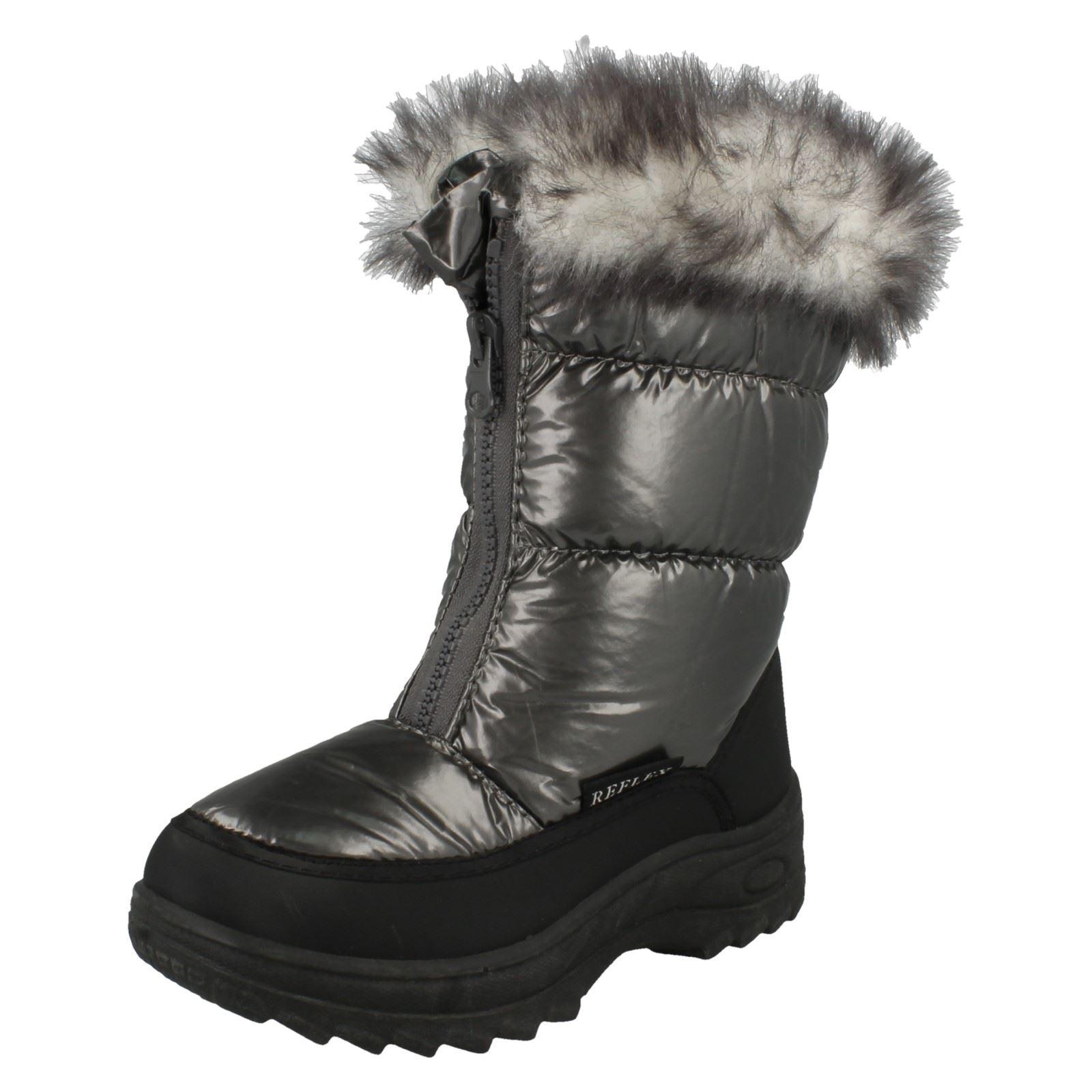 Spot On Girls Nylon Snow Boots