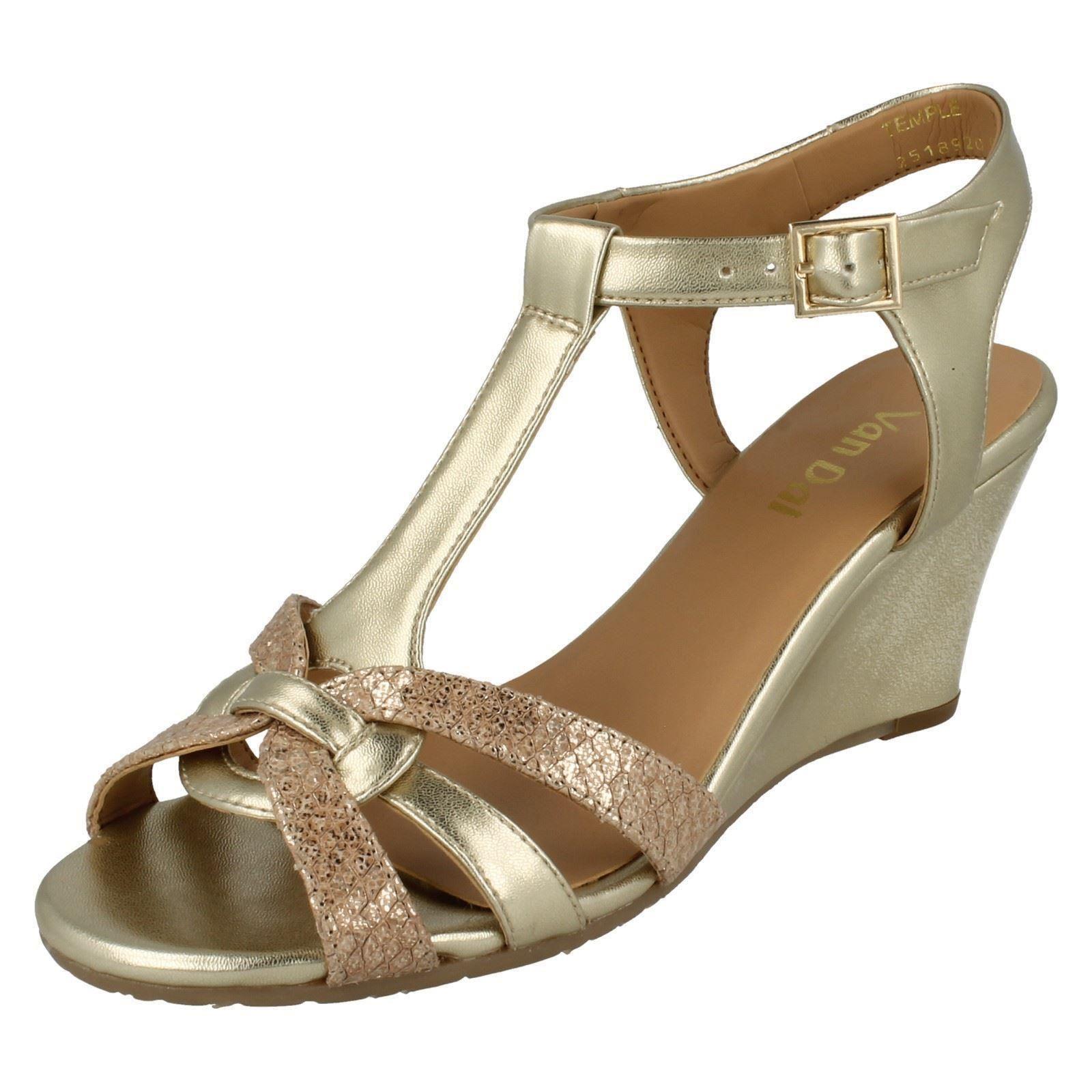 9eea29e2a0 ... Femmes Van Dal T-Bar des sandales sandales sandales compensées * Temple  * 66751c ...