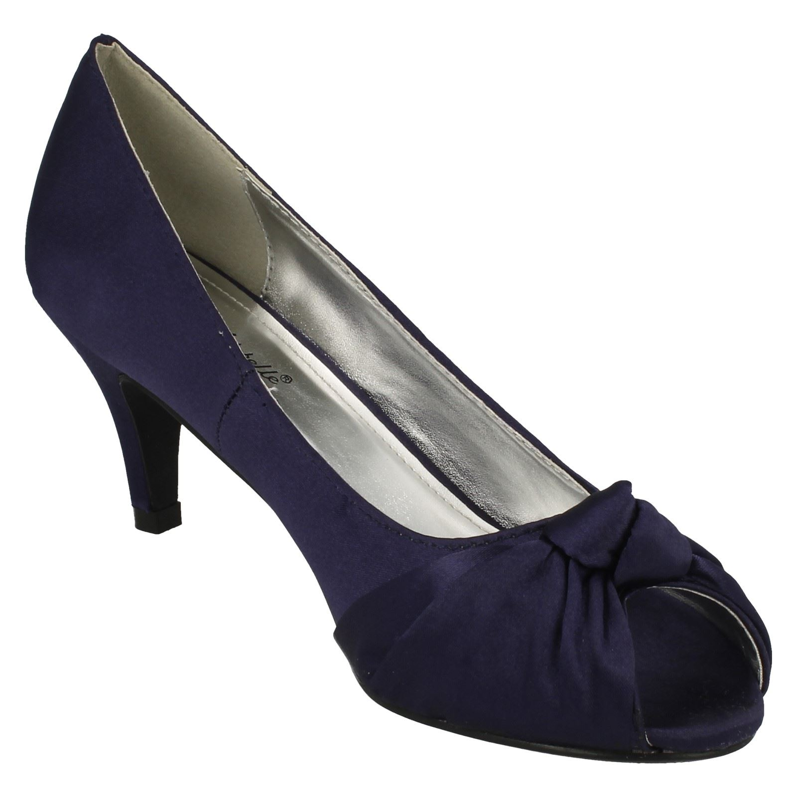 Anne-Michelle-Ladies-Knot-Detail-Peep-Toe-Court-Shoe thumbnail 17