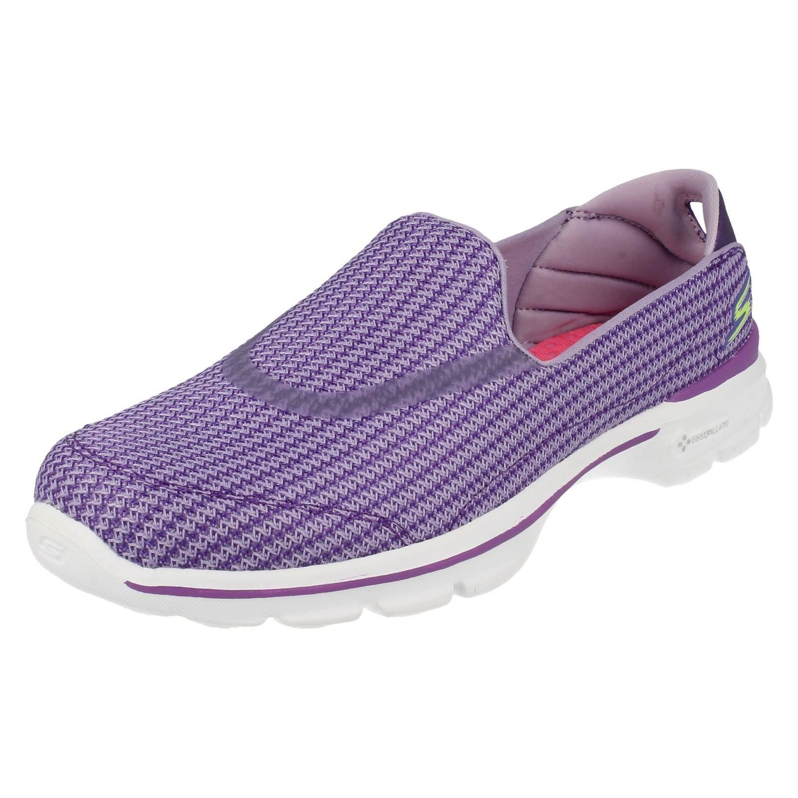 Skechers Ladies Slip On Go Walk 3 Goga Mat Slip On Shoes