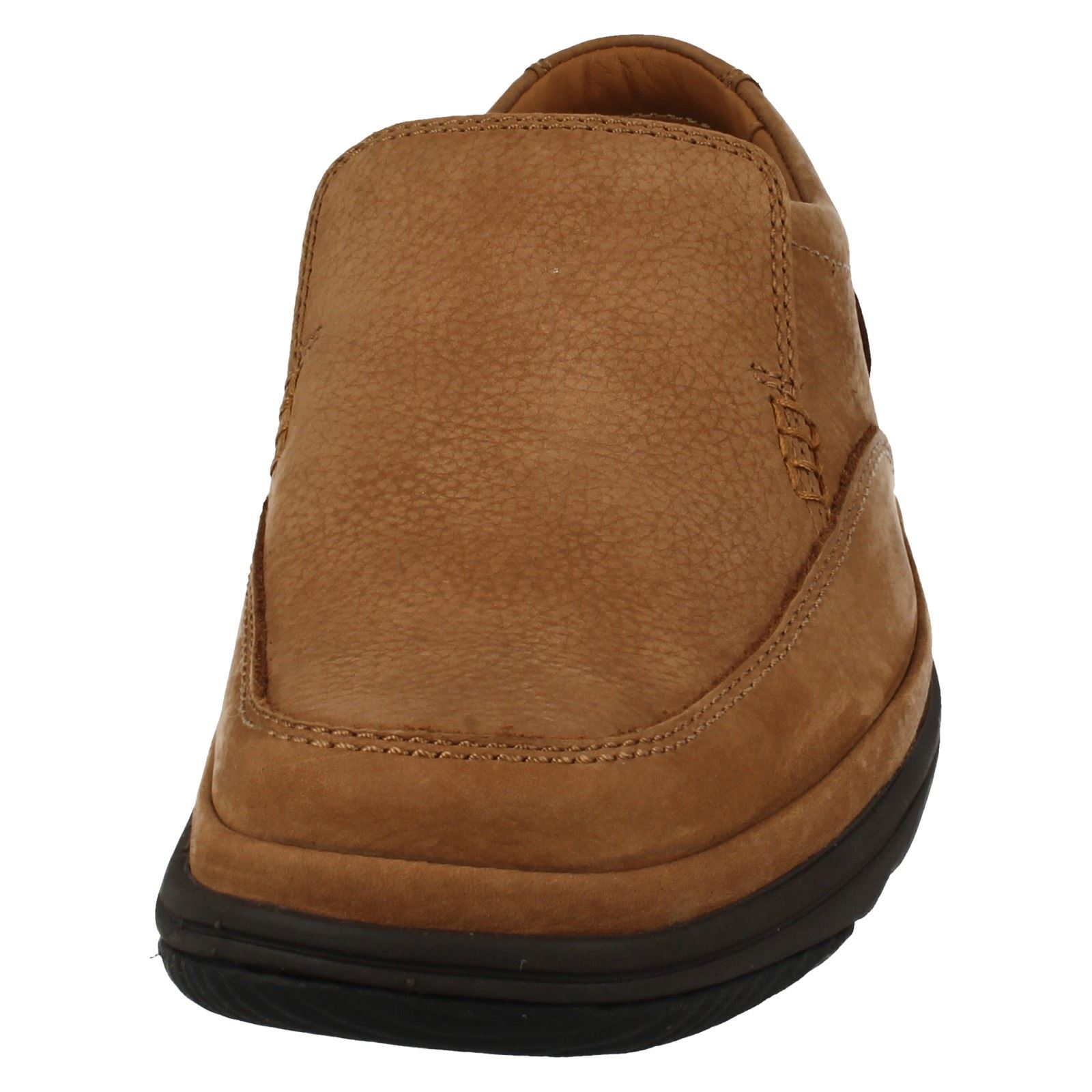 'Mens Clarks' Rounded Toe Flexlight Wide Fitting Slip Step On Shoes - Swift Step Slip 6dcc9c