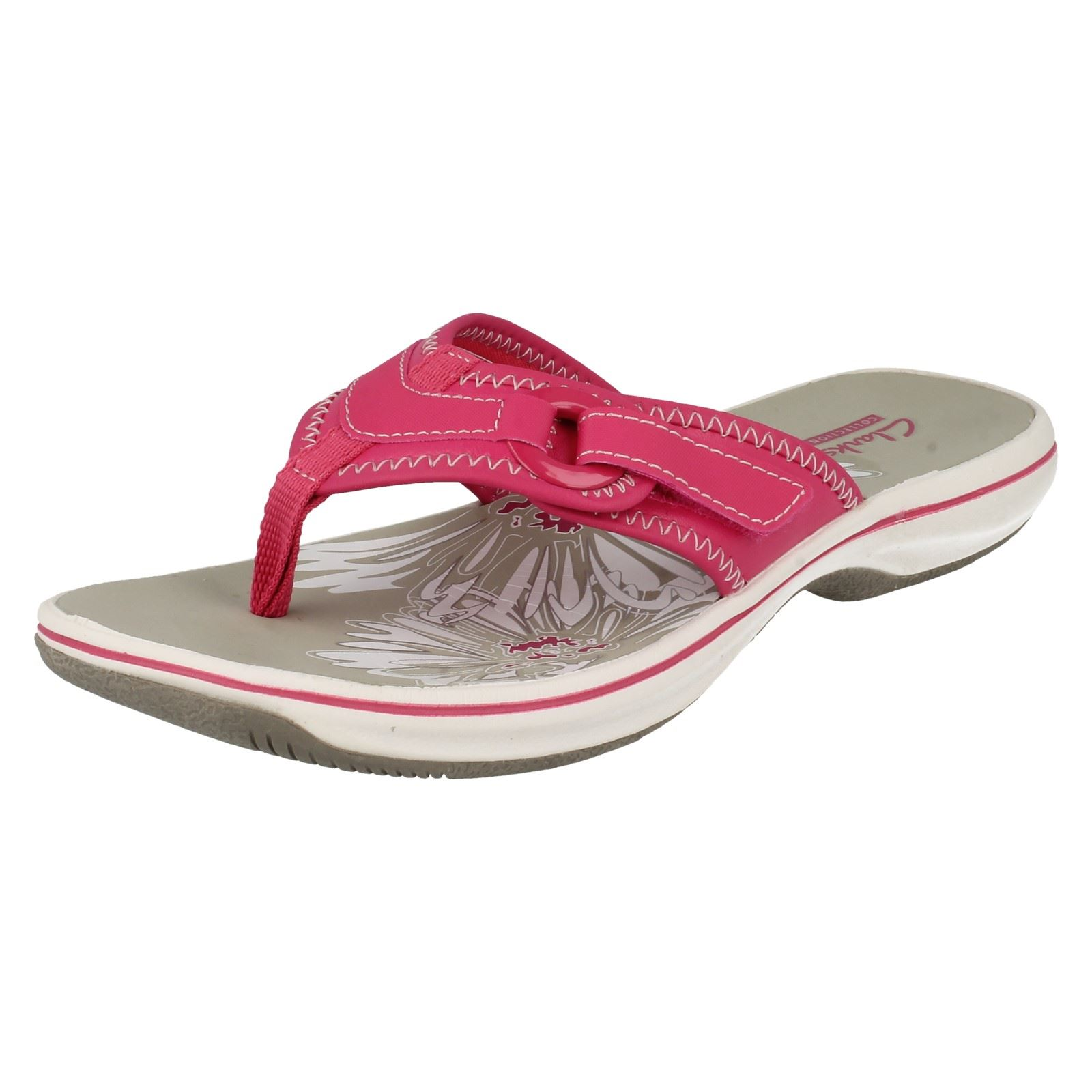 326134e2fd8e Ladies Clarks Toe Post Sandals Flip Flops  Brinkley Mila