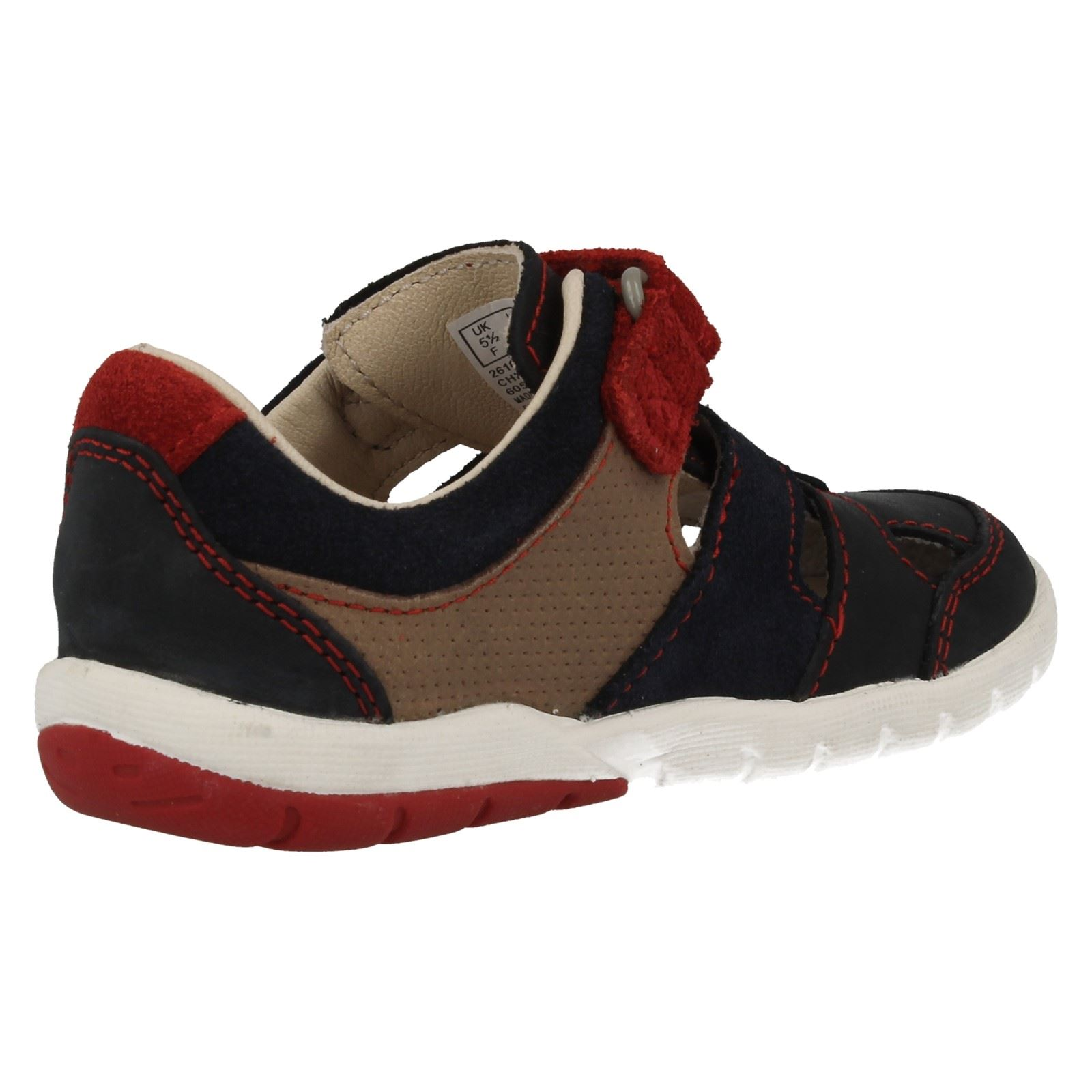 Infant Boys Clarks Closed Toe Vecro Sandals / Shoes - Softly Moon