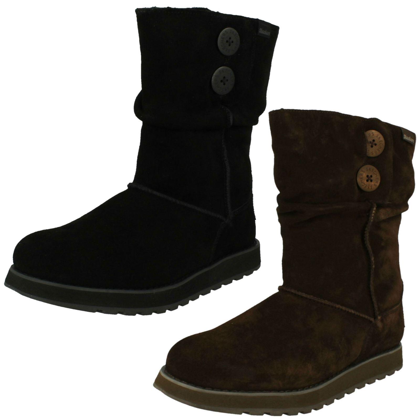 c2aec01b83139 Image is loading Ladies-Skechers-Casual-Hook-amp-Loop-Leather-Winter-