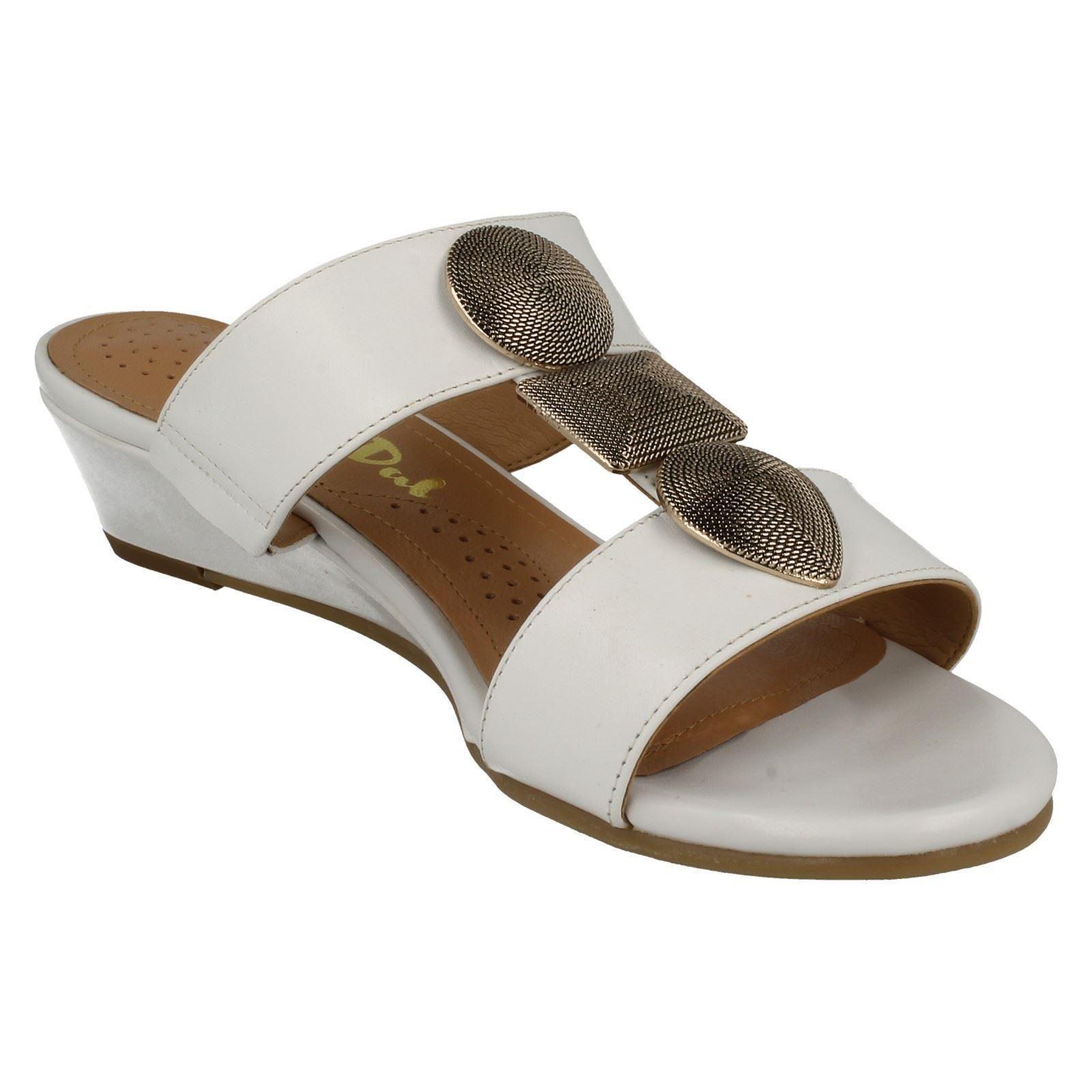 Ladies-Van-Dal-Open-Toe-Slip-On-Summer-Low-Wedge-Leather-Sandals-Epsom thumbnail 8
