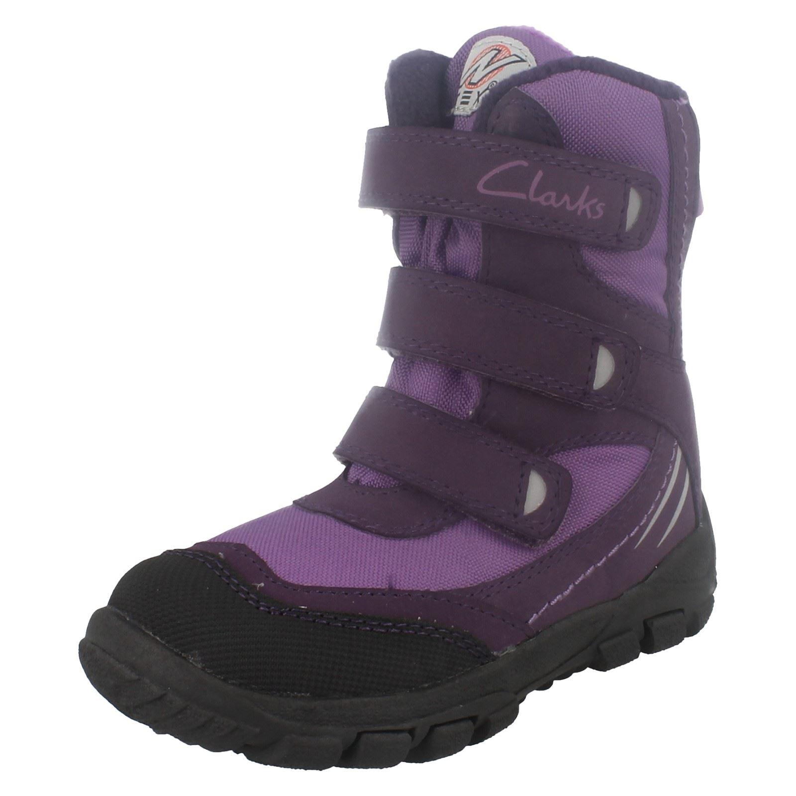 Loop G día Clarks para púrpura Botas nieve niñas Hook para la wOCPXSq