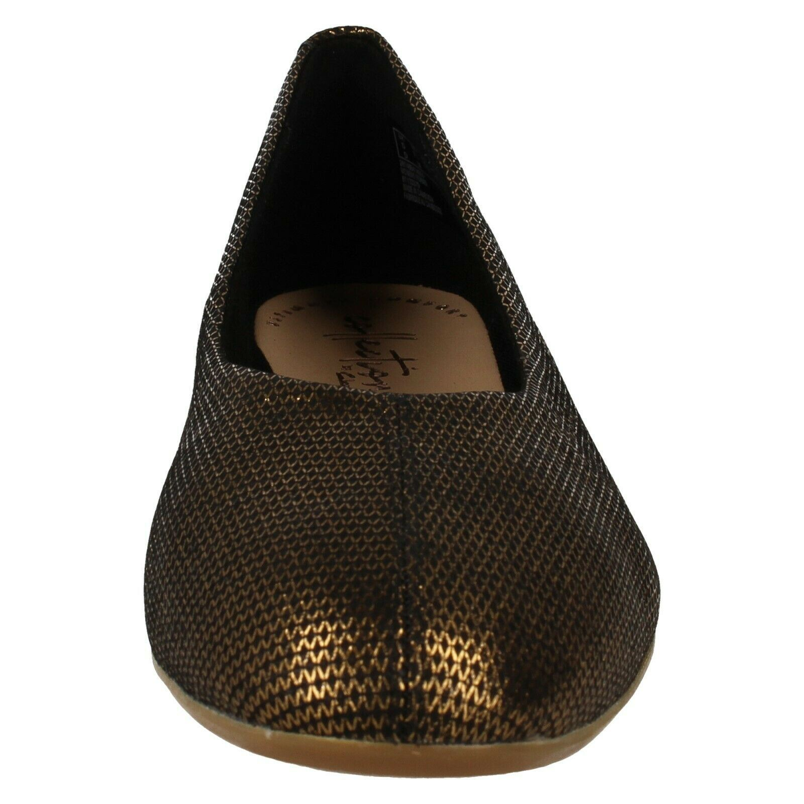 LADIES CLARKS LEATHER SQUARE TOE SLIP ON FLAT BALLERINA PUMPS SHOES CHIA MOON