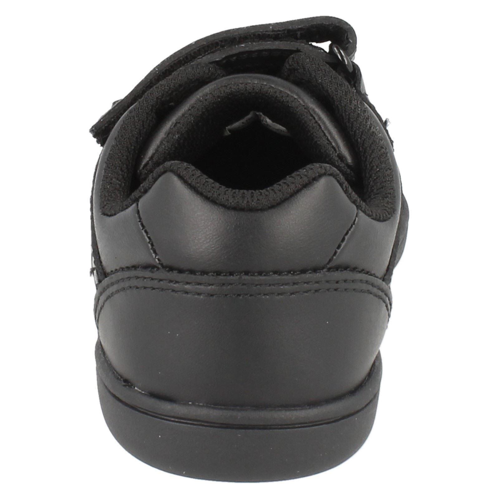 BNIB Clarks Boys Holbay Go Black Leather School Shoes F//G//H Fitting