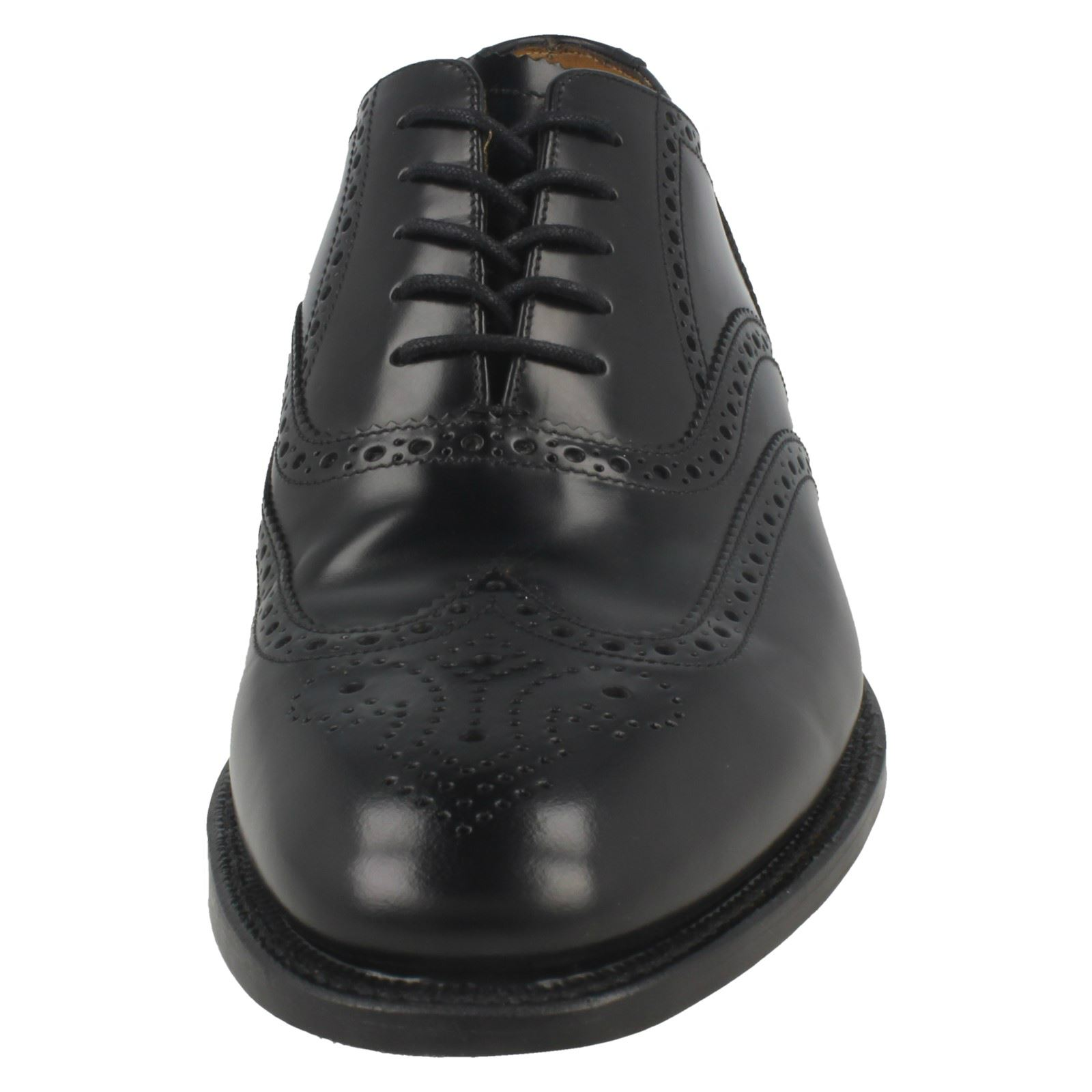 Mens Loake Polished Leather Leather Leather Smart Brogues '202B' ab5c3d