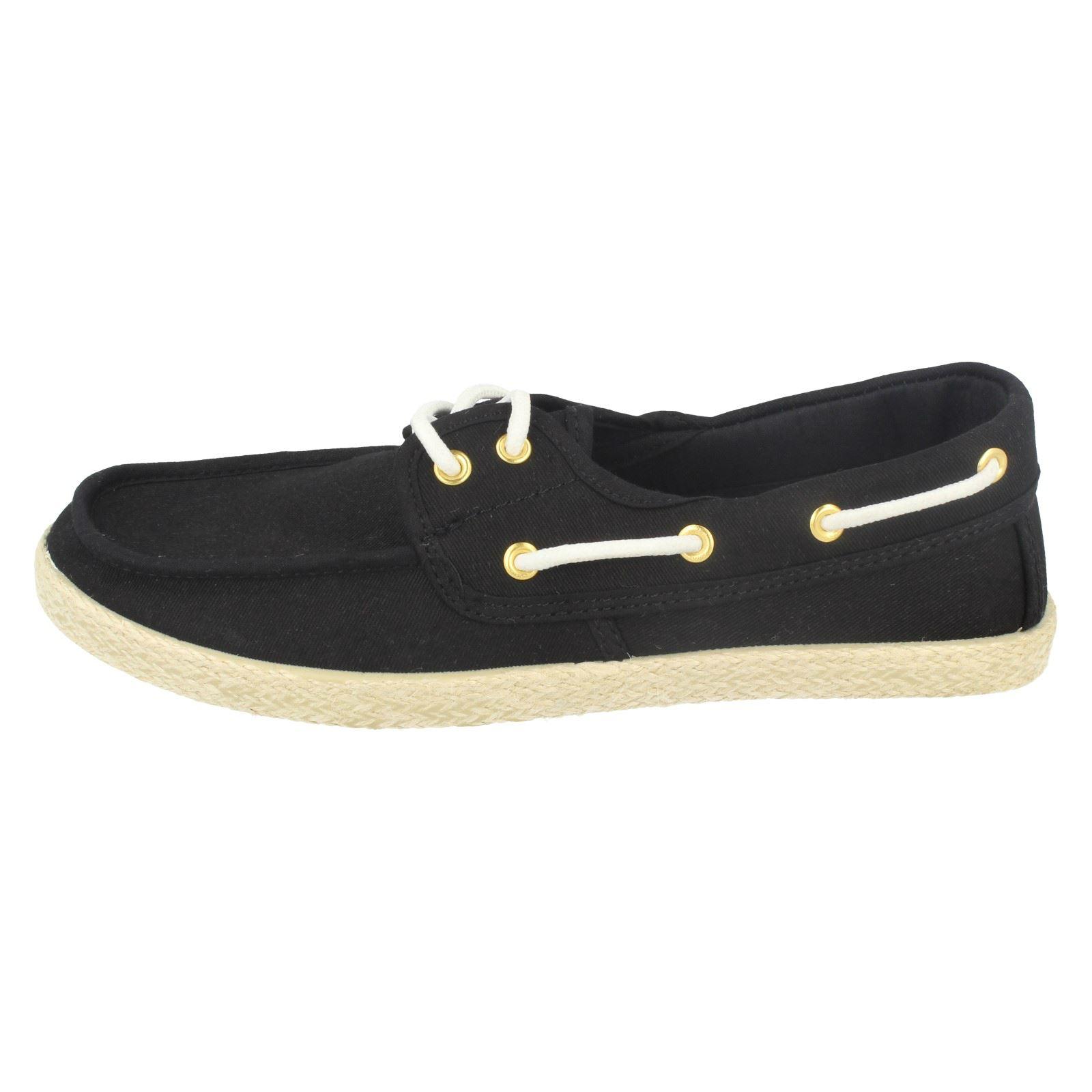 Para Mujeres Zapatos Náuticos Con Cordones Punto en 'F8724'