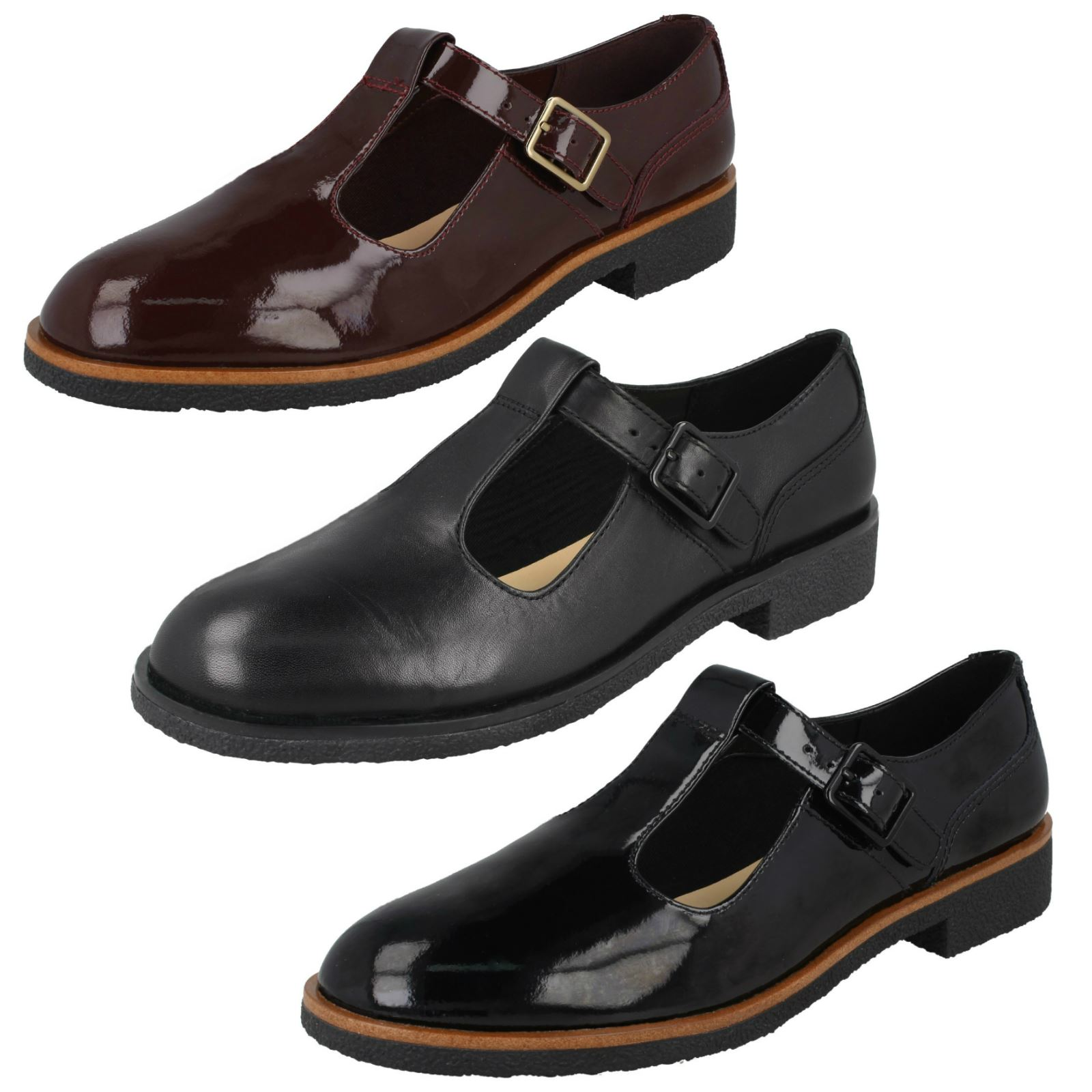 Ladies Clarks T-Bar Heeled Shoes