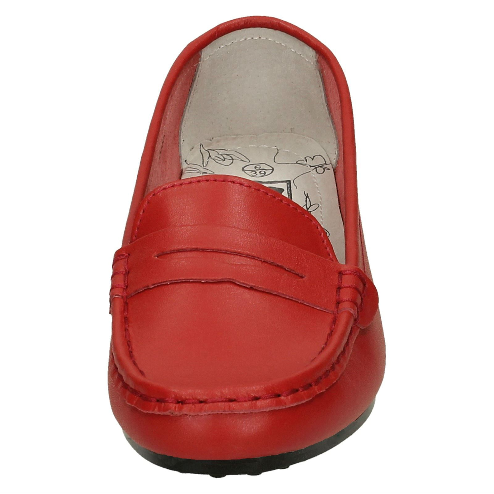 Ladies Down To Earth Flat Saddle Trim Vamp /'Moccasin/'