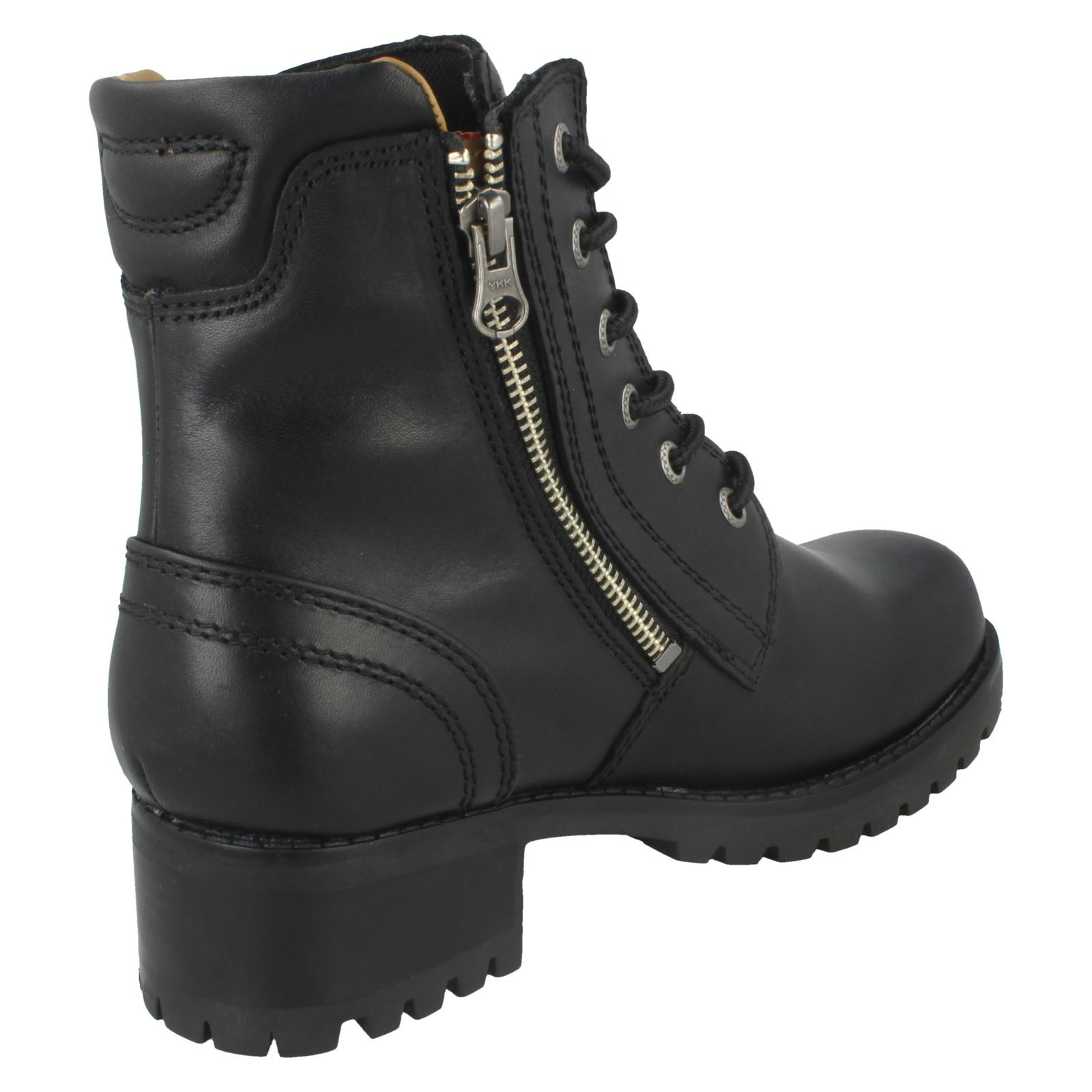 Damenschuhe Harley Davidson Lace Up/Zip Fastening Leder Ankle Ankle Leder Boot - 'Asher' 4da62d