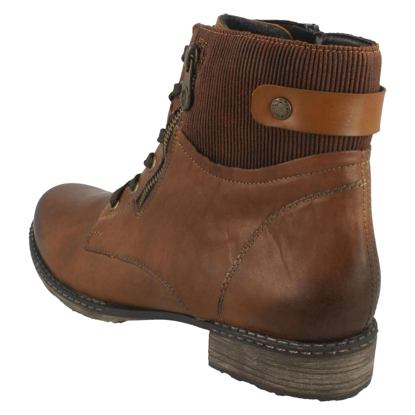 'd4379' Brown Remonte Ladies Ankle Boots nWPxAv