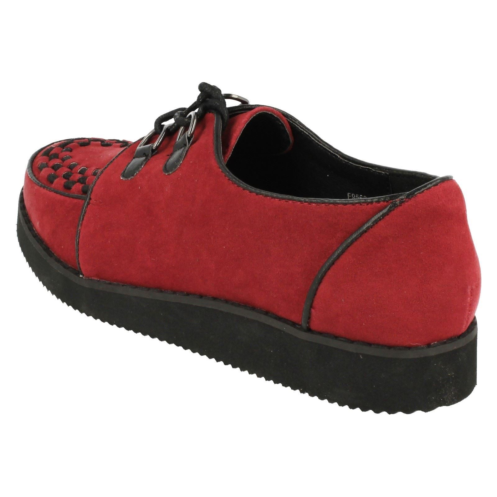 caf0293981e Ladies Spot on Chunky Sole Shoes F9568 Red UK 4 Standard. About this  product. Picture 1 of 10  Picture 2 of 10  Picture 3 of 10  Picture 4 of 10