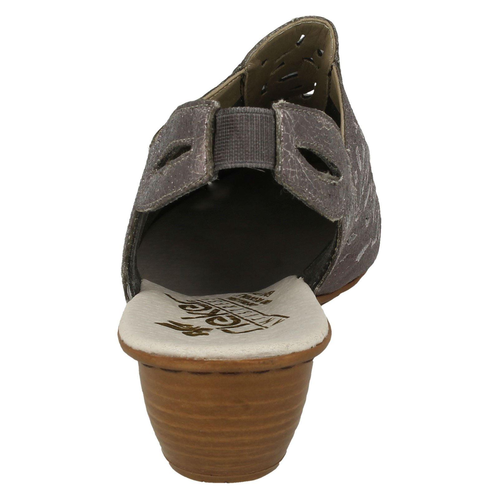 Slingback argento Rieker 43769 Shoes Metallic Heeled Ladies xpqgwP