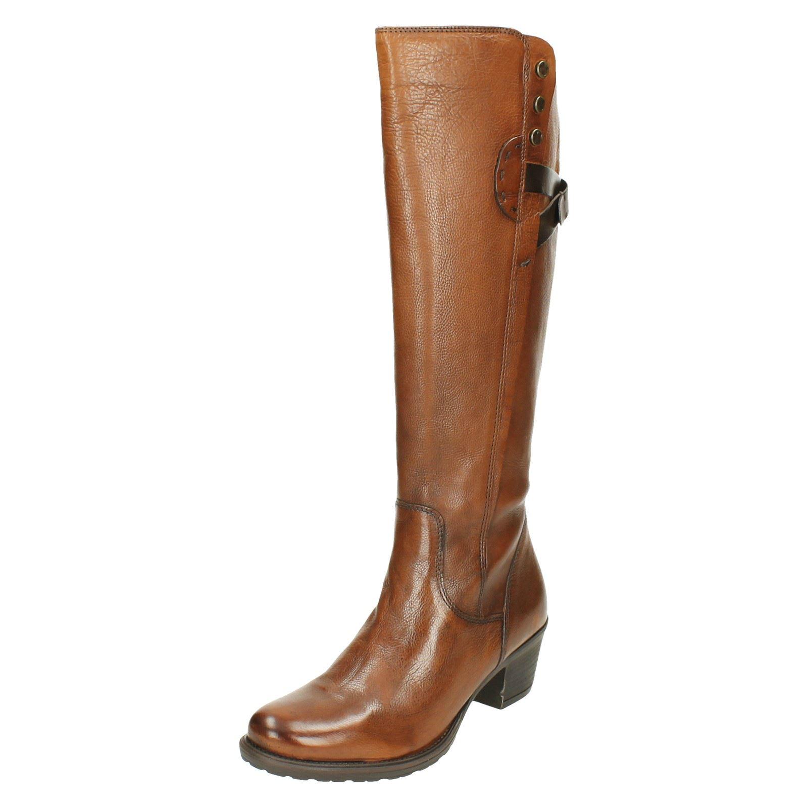 Ladies Clarks Riding Style Boots Maymie Stellar