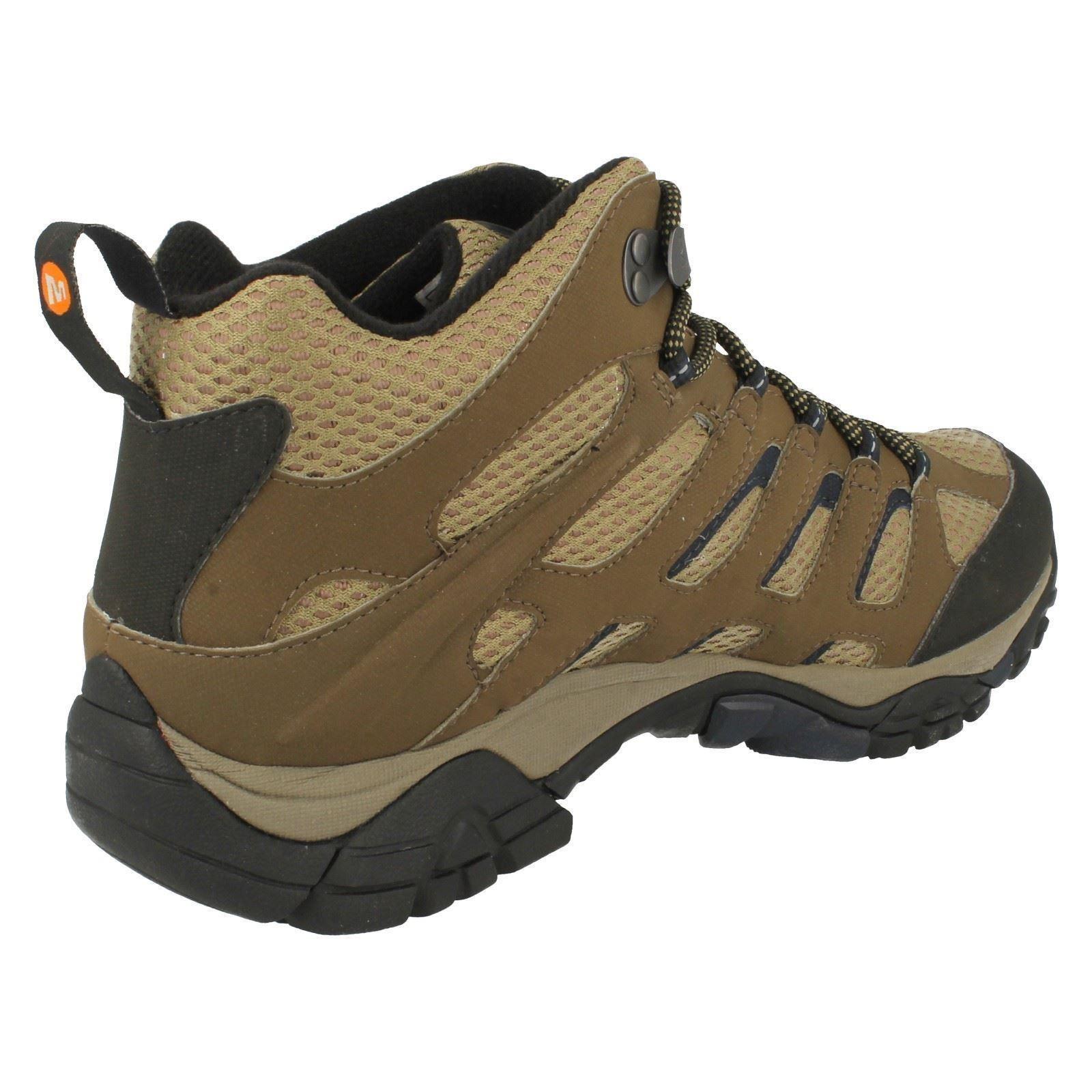 Mens Merrell Lace Up Walking Walking Walking Boots Moab Mid 7613b8