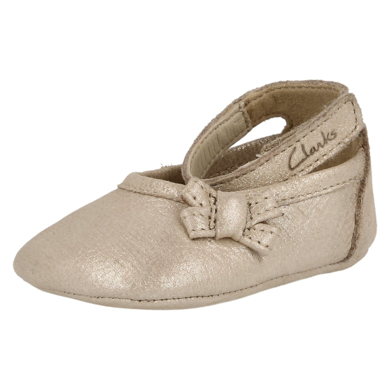 ecd8e4d439c6 Clarks Girls Soft Leather Pram Shoes With Strap - Baby Harper