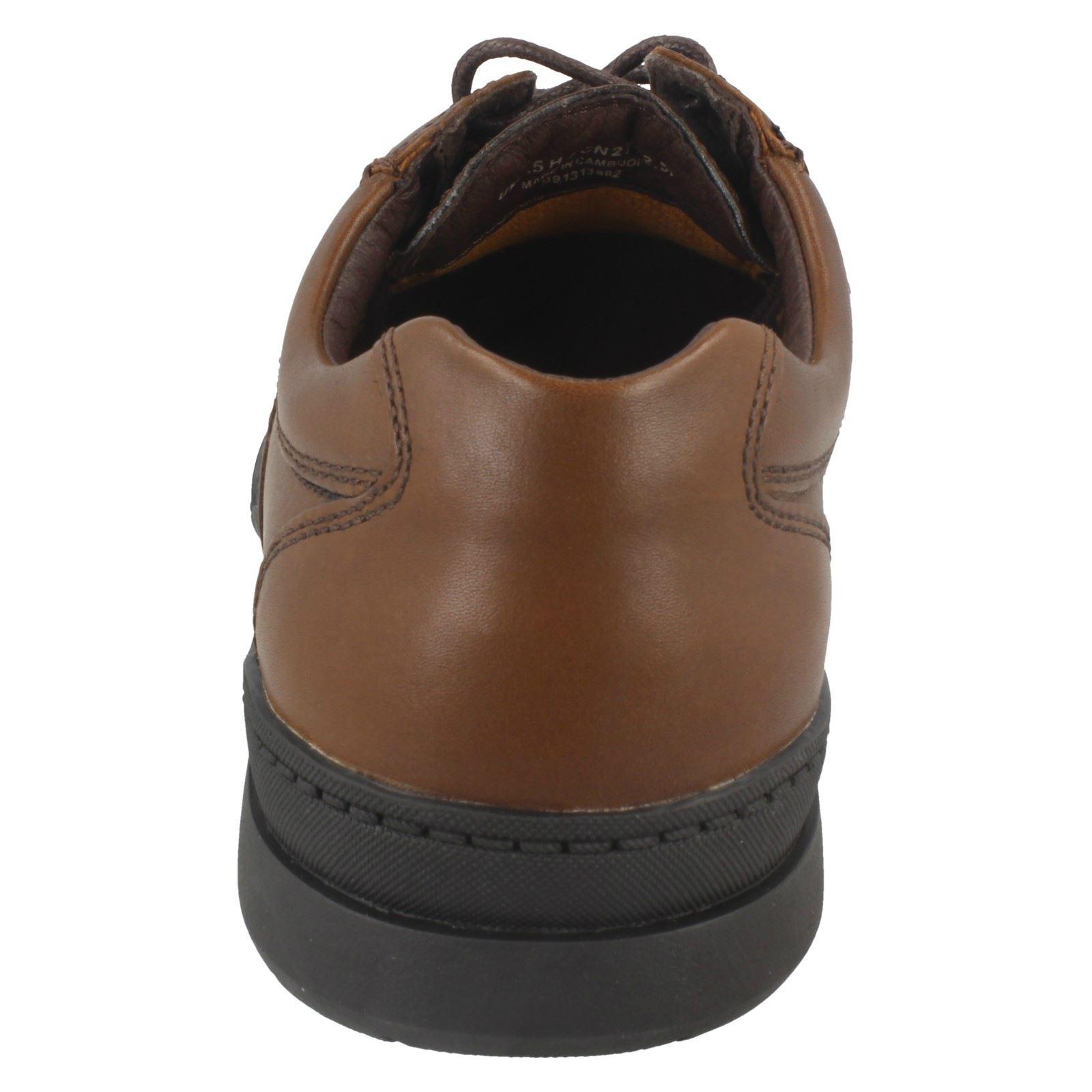 Clarks línea cordones para hombre de marrón Walnut con Line rarzwqX