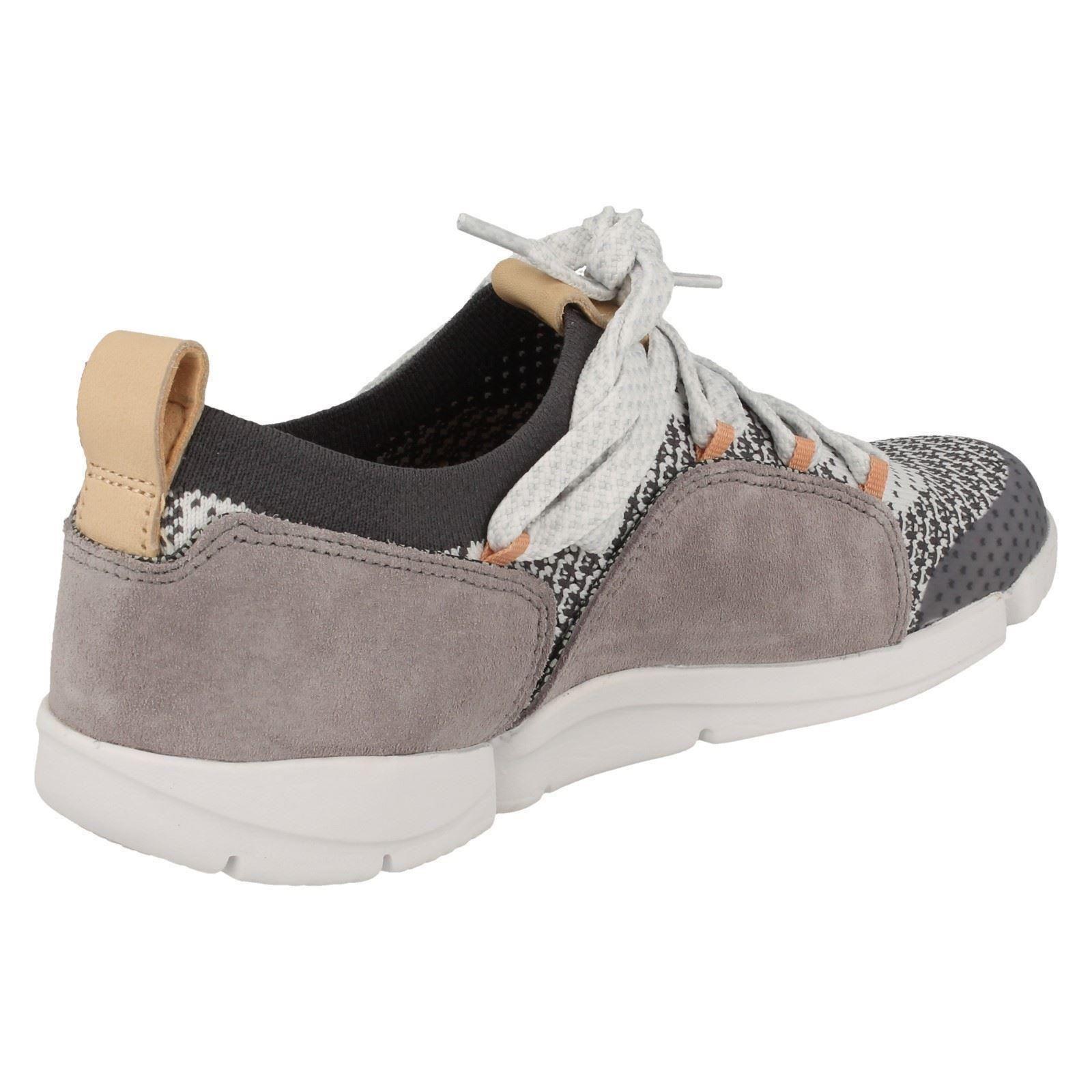 Damas Clarks Casual de Encaje zapatos trigenic Ligero Zapatillas zapatos Encaje Tri Amelia 087a2b