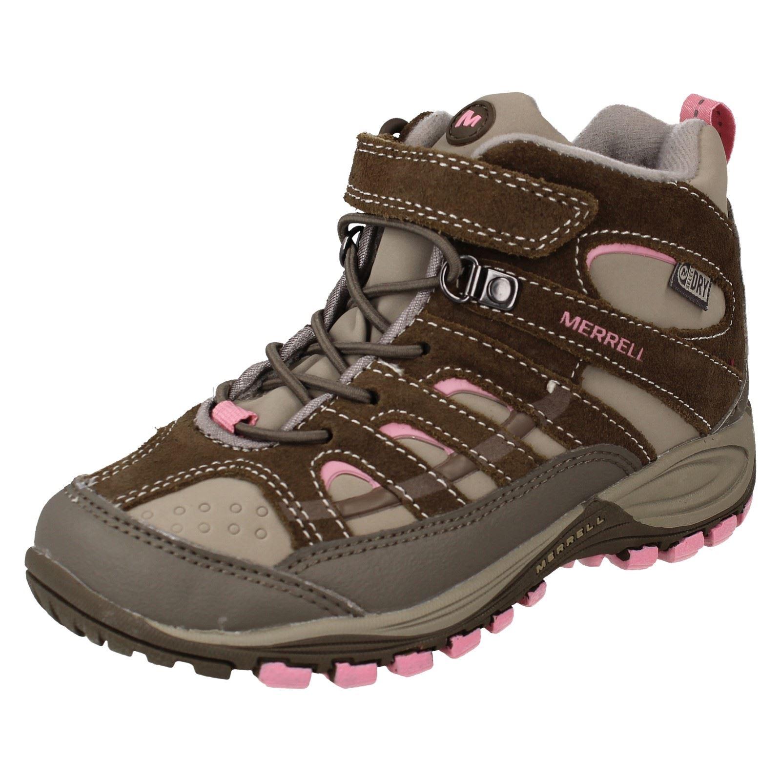 45d1c5732e Girls Merrell Hiking Boots - Chameleon 4 Mid Trek Wtpf   eBay
