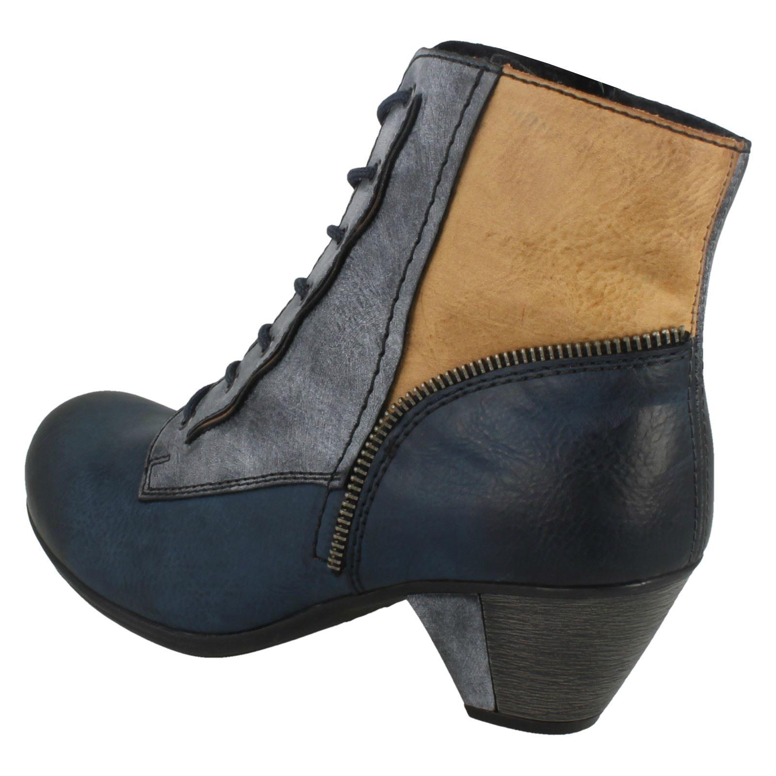 Damas Rieker botas al tobillo con Cordones' ' ' Cordones' 3a4d76