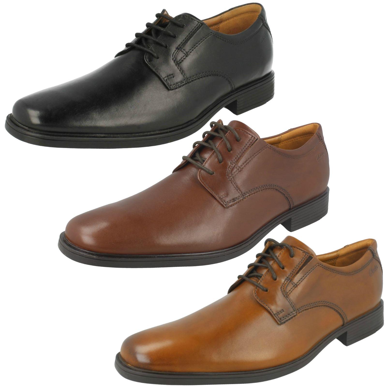863f10b95b3b8 Details about Mens Clarks Tilden Plain Formal Shoes