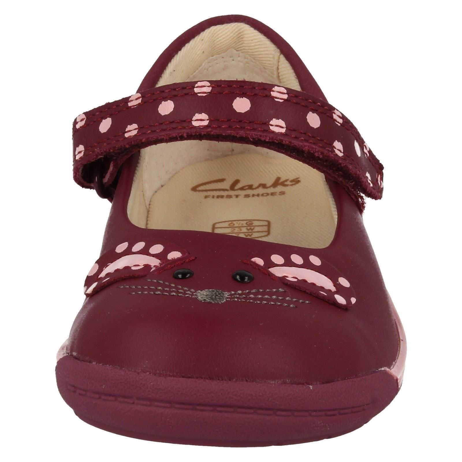 Infant Baby Girls First Clarks Leather Hook & Loop Mary Jane Shoes - Iva Pip